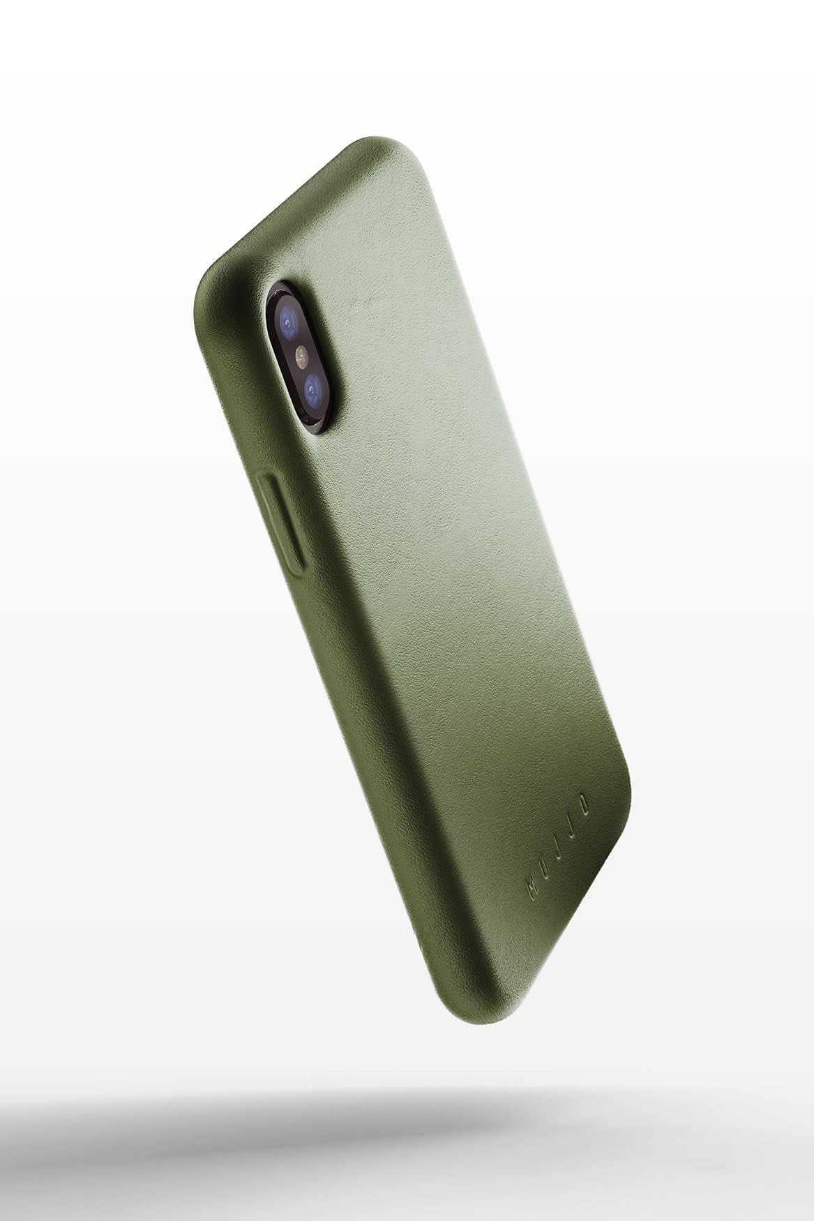 Full leather case for iPhone X Olive 02