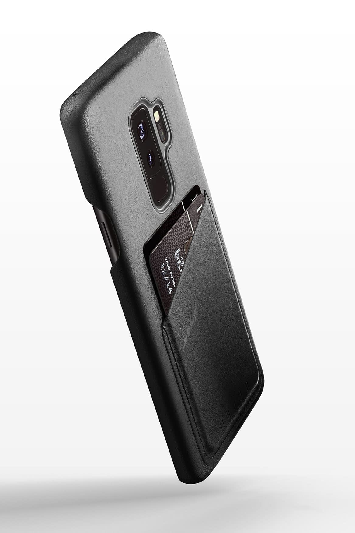 Full leather wallet case for Galaxy S9 Plus Black 01