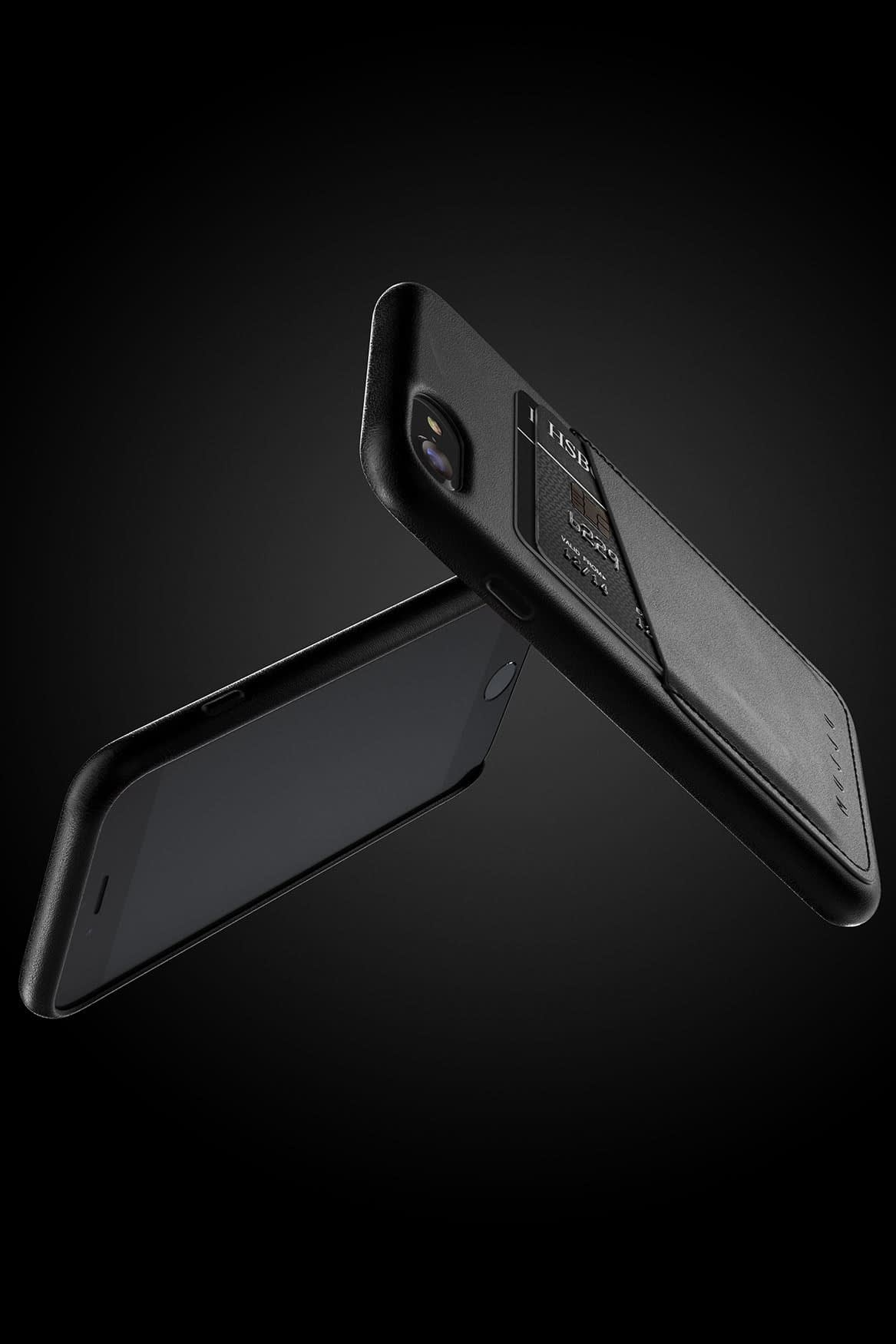 Full leather wallet case for iPhone 8 Black 07