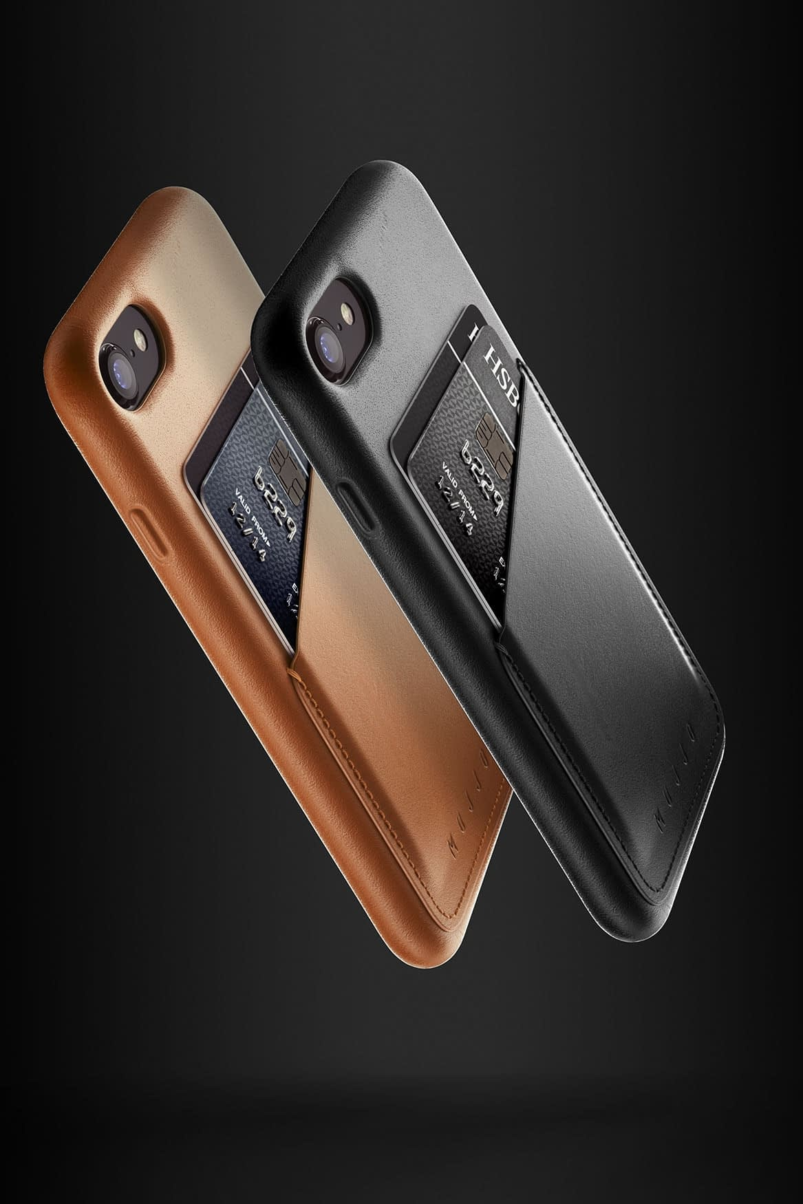 Full leather wallet case for iPhone 8 Black Line up 04