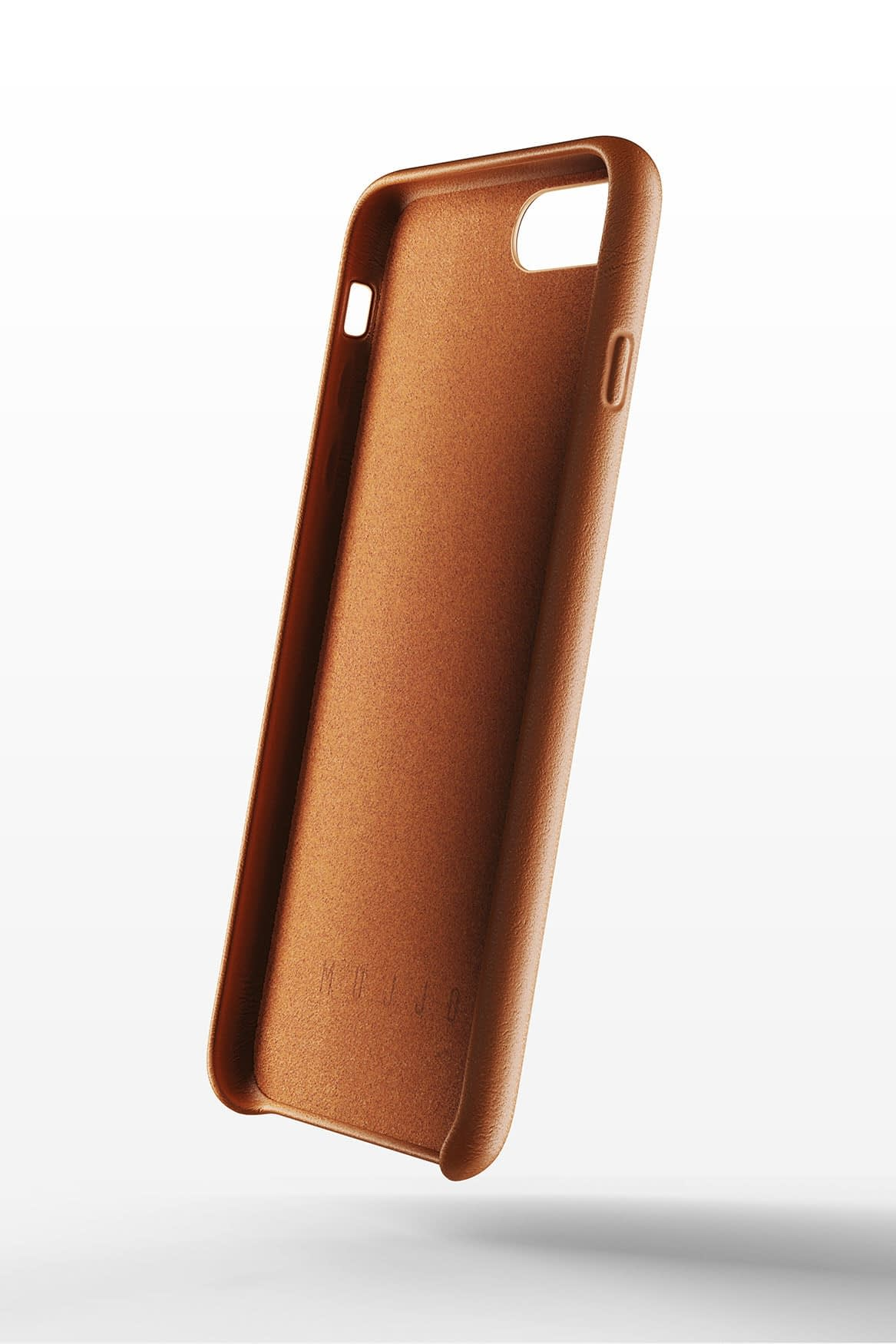 Full leather wallet case for iPhone 8 Plus Tan 02