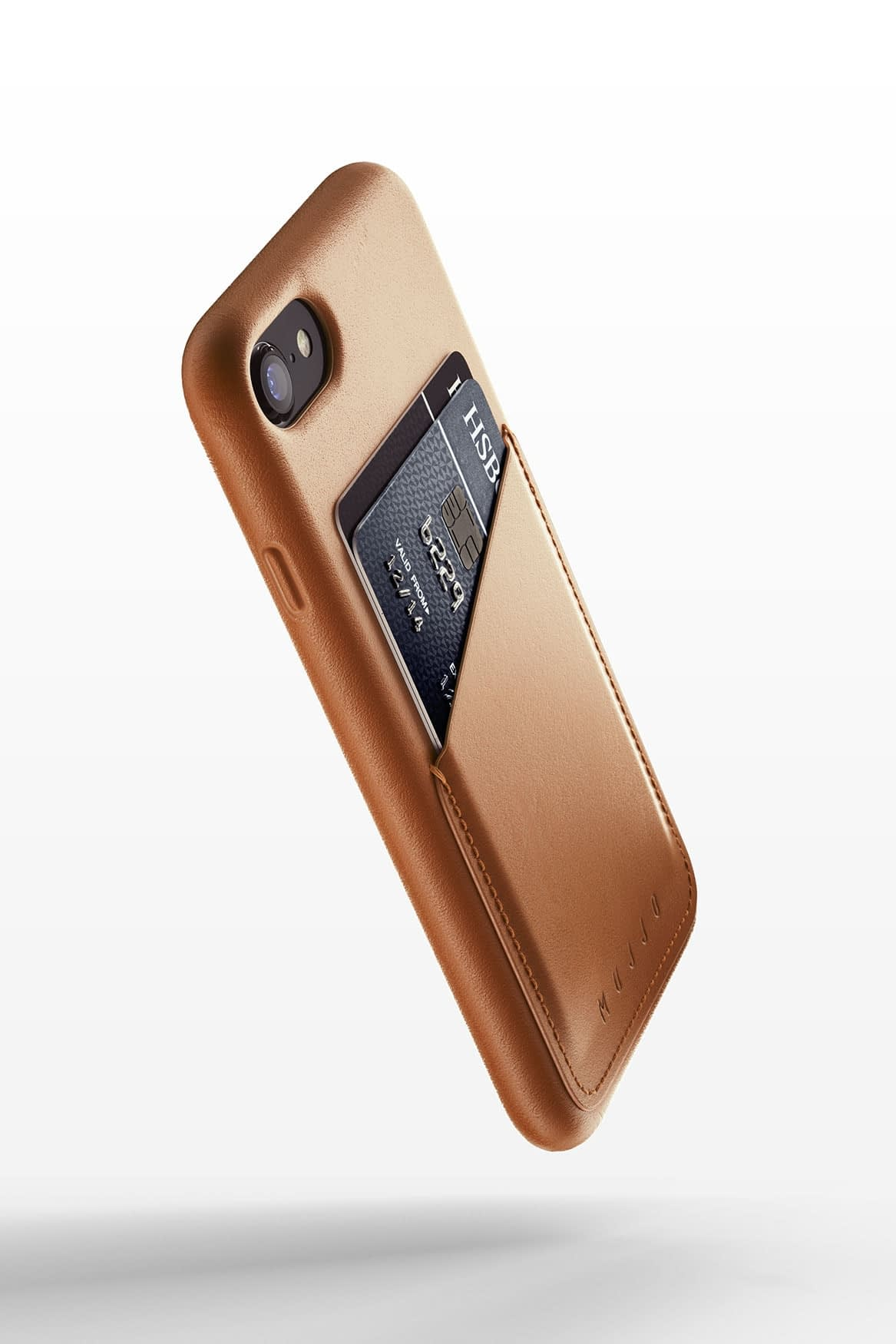 Full leather wallet case for iPhone 8 Tan 01