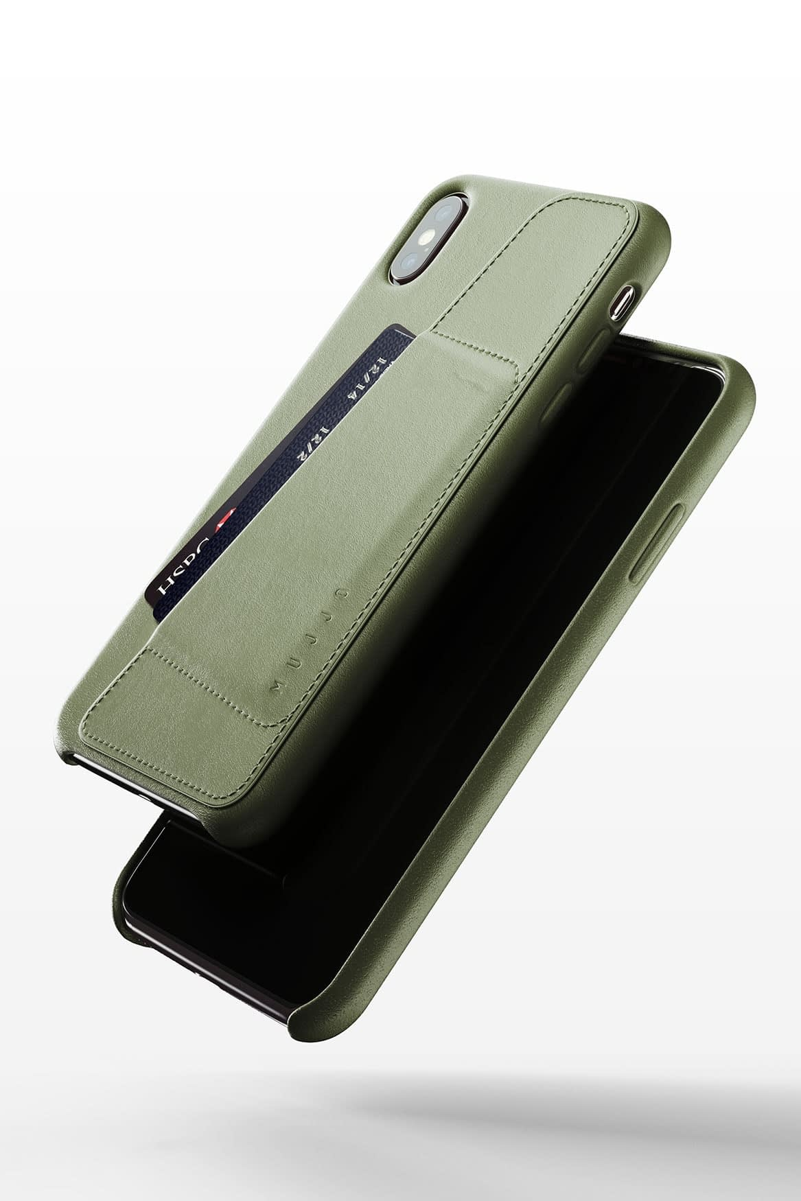 Full leather wallet case for iPhone Xs Max Olive 03 1