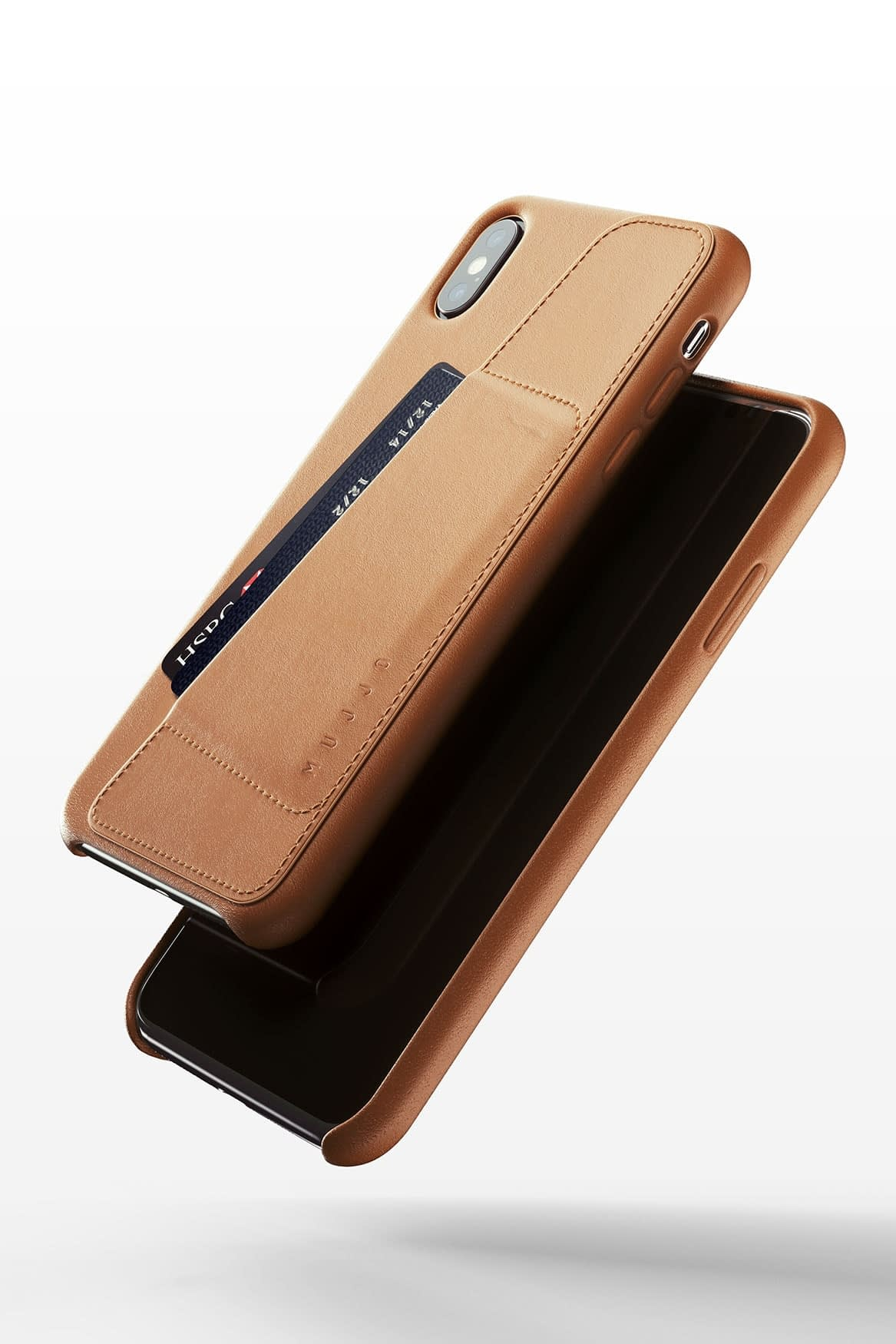 Full leather wallet case for iPhone Xs Max Tan 03
