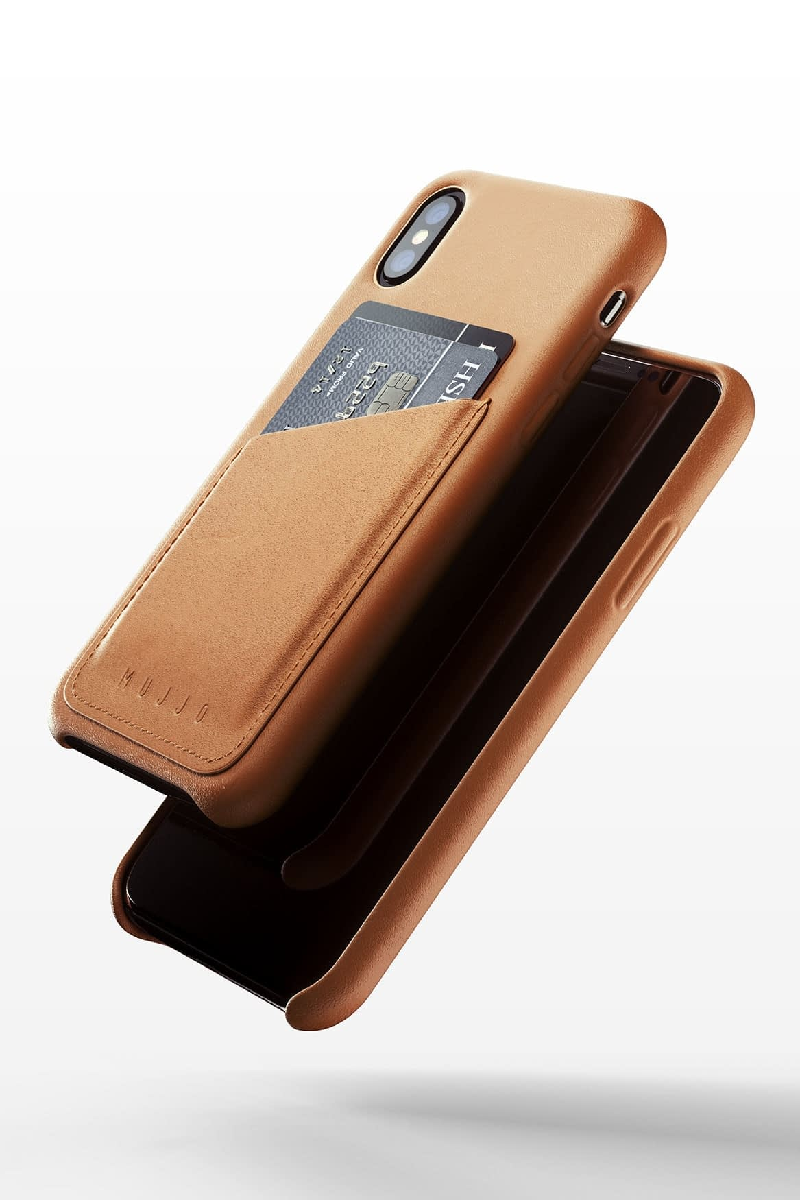 Full leather wallet case for iPhone Xs Tan 03