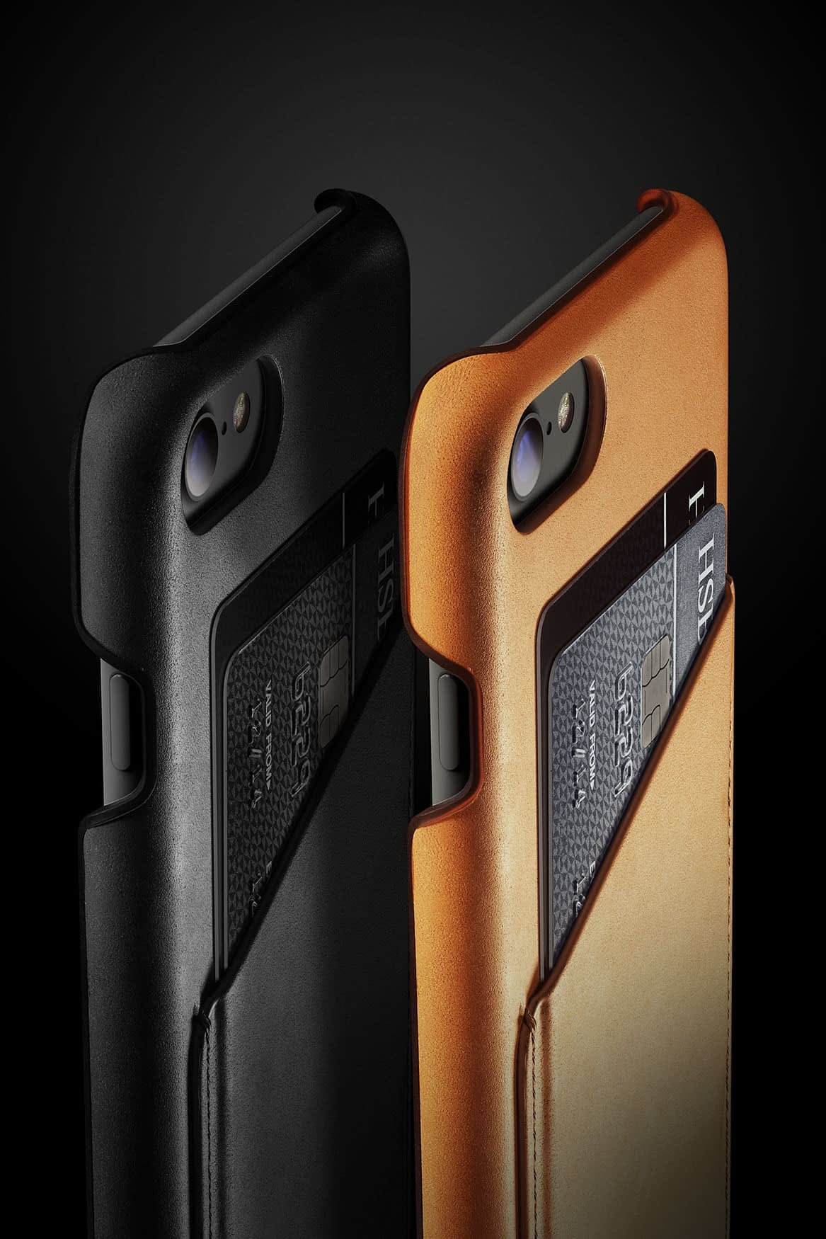 Leather Wallet Case for iPhone 7 Black Line up 002