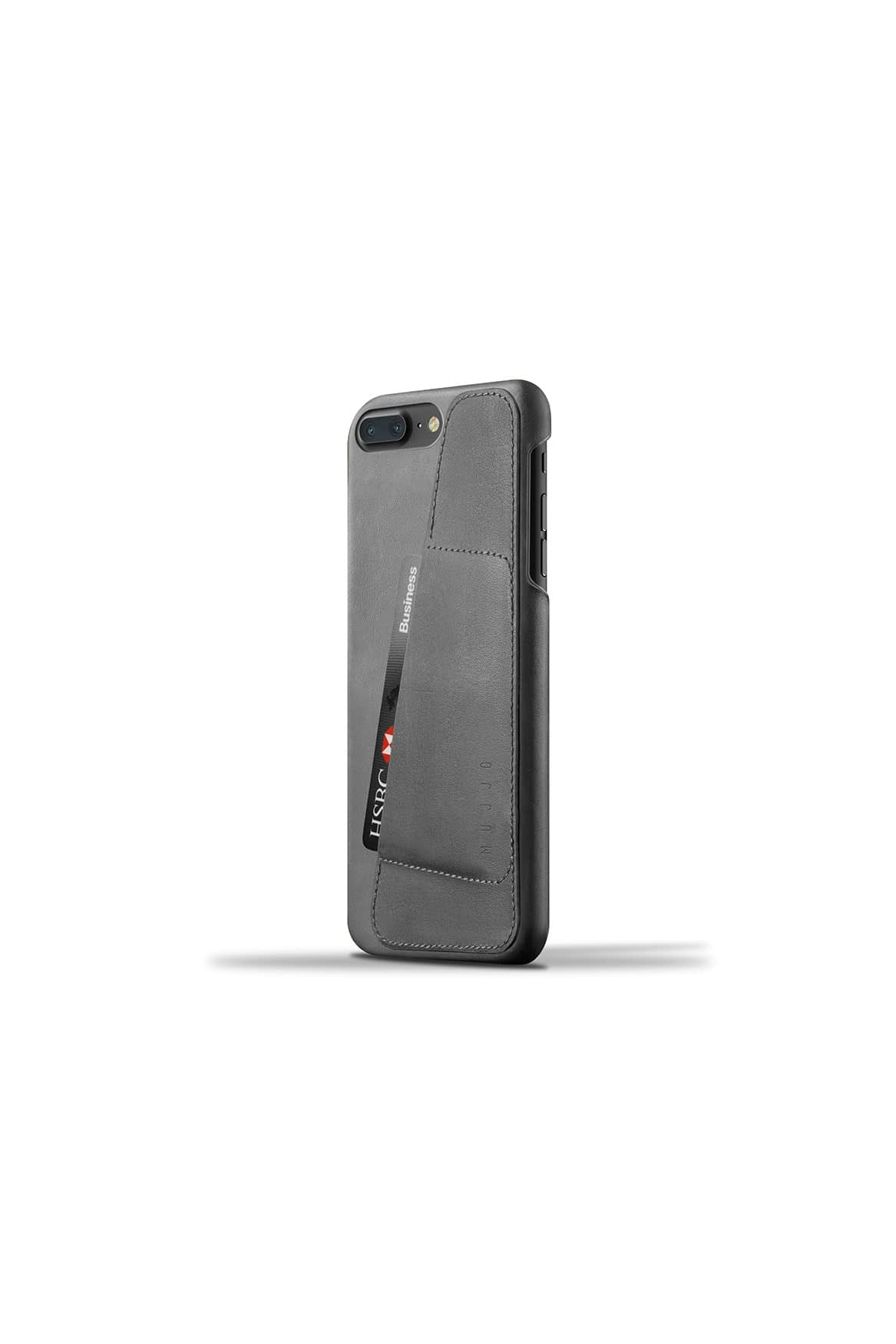 Leather Wallet Case for iPhone 7 Plus Gray Studio 003