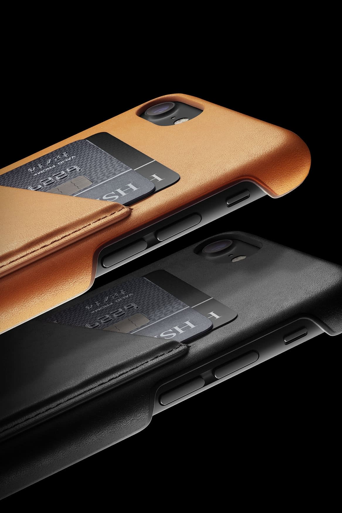 Leather Wallet Case for iPhone 7 Tan 006 1