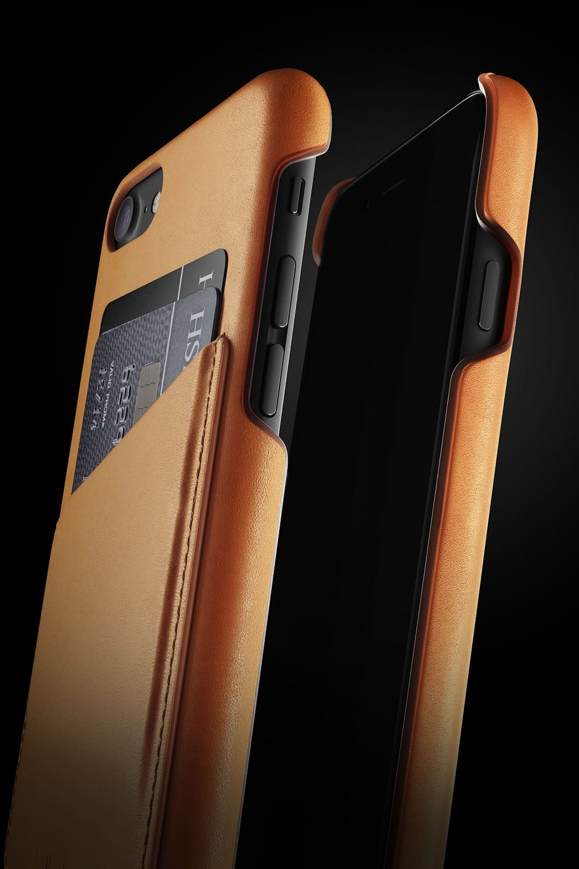 Leather Wallet Case for iPhone 7 Tan 007