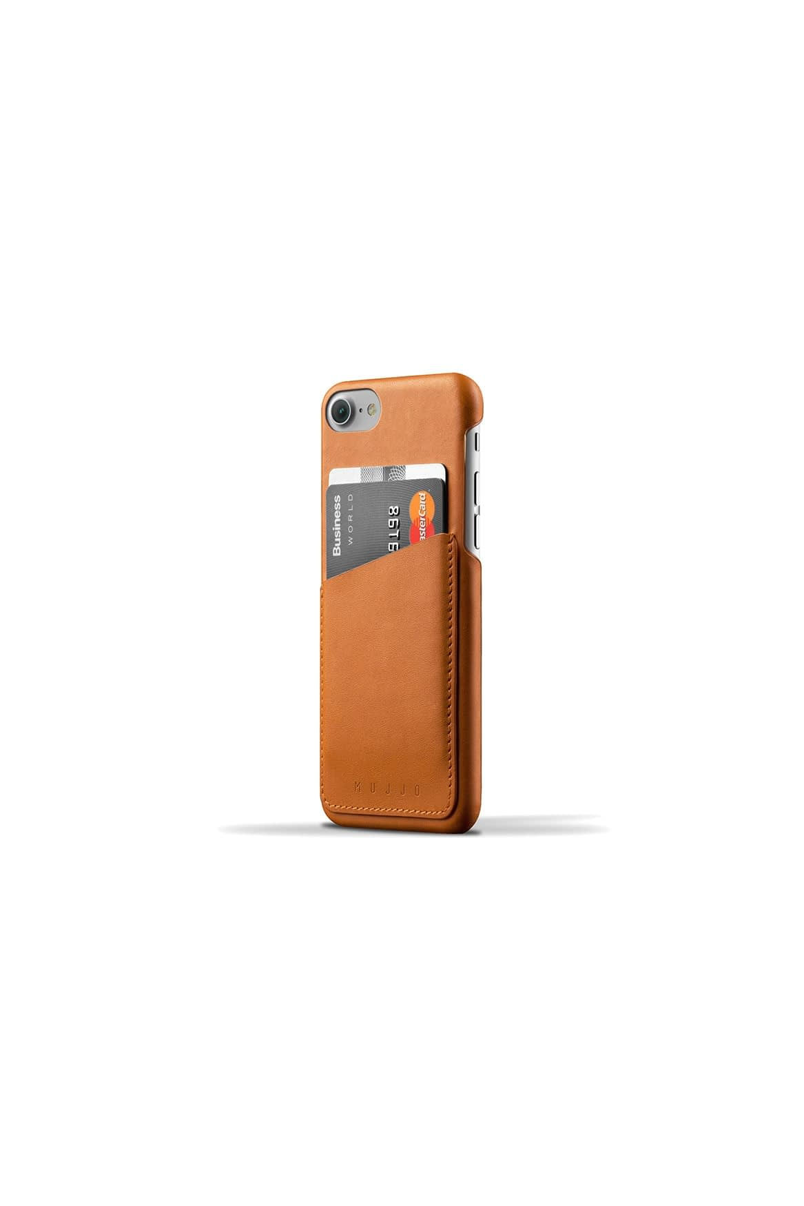 Leather Wallet Case for iPhone 7 Tan Studio 004