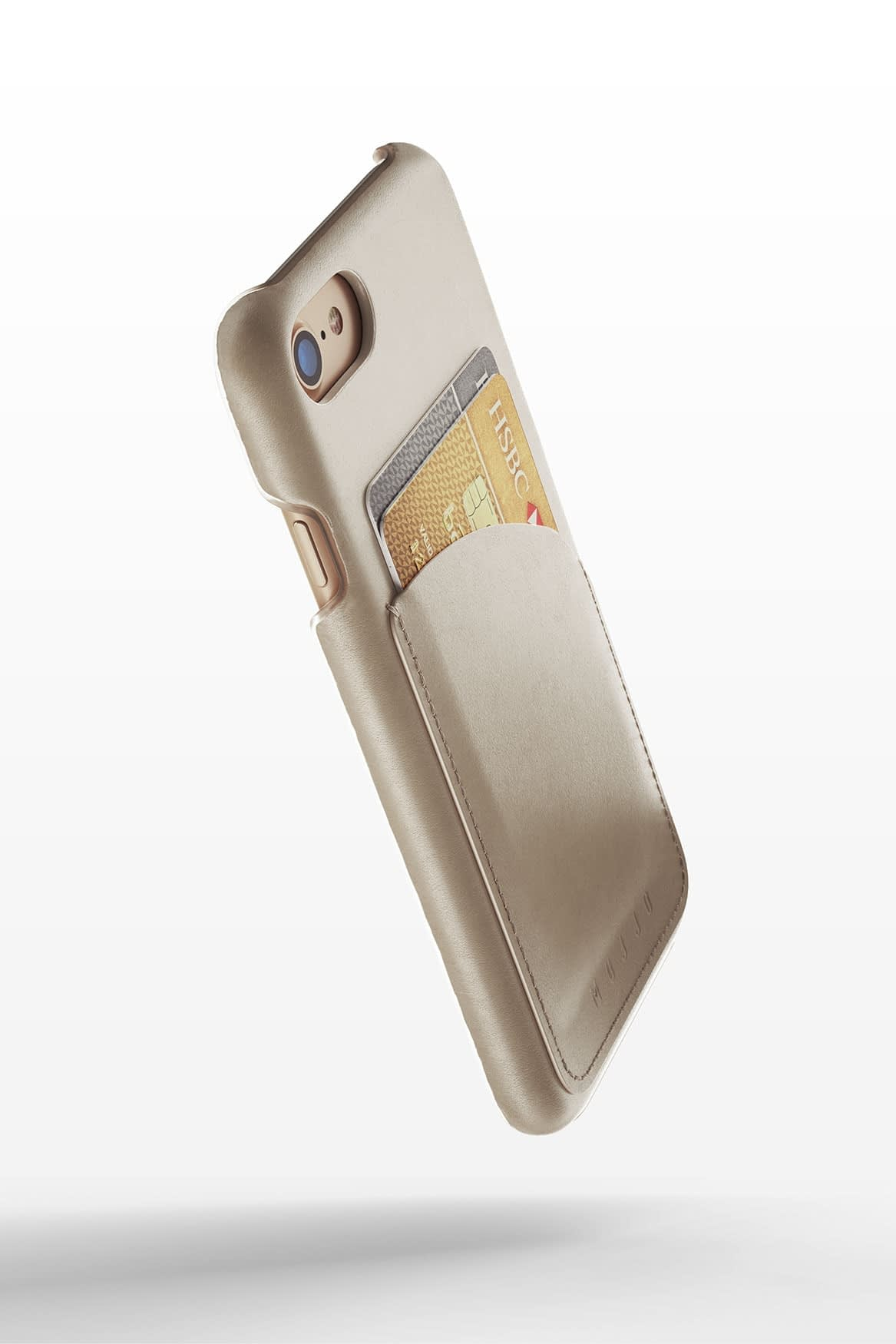 Leather Wallet Case for iPhone 8 Champagne 3