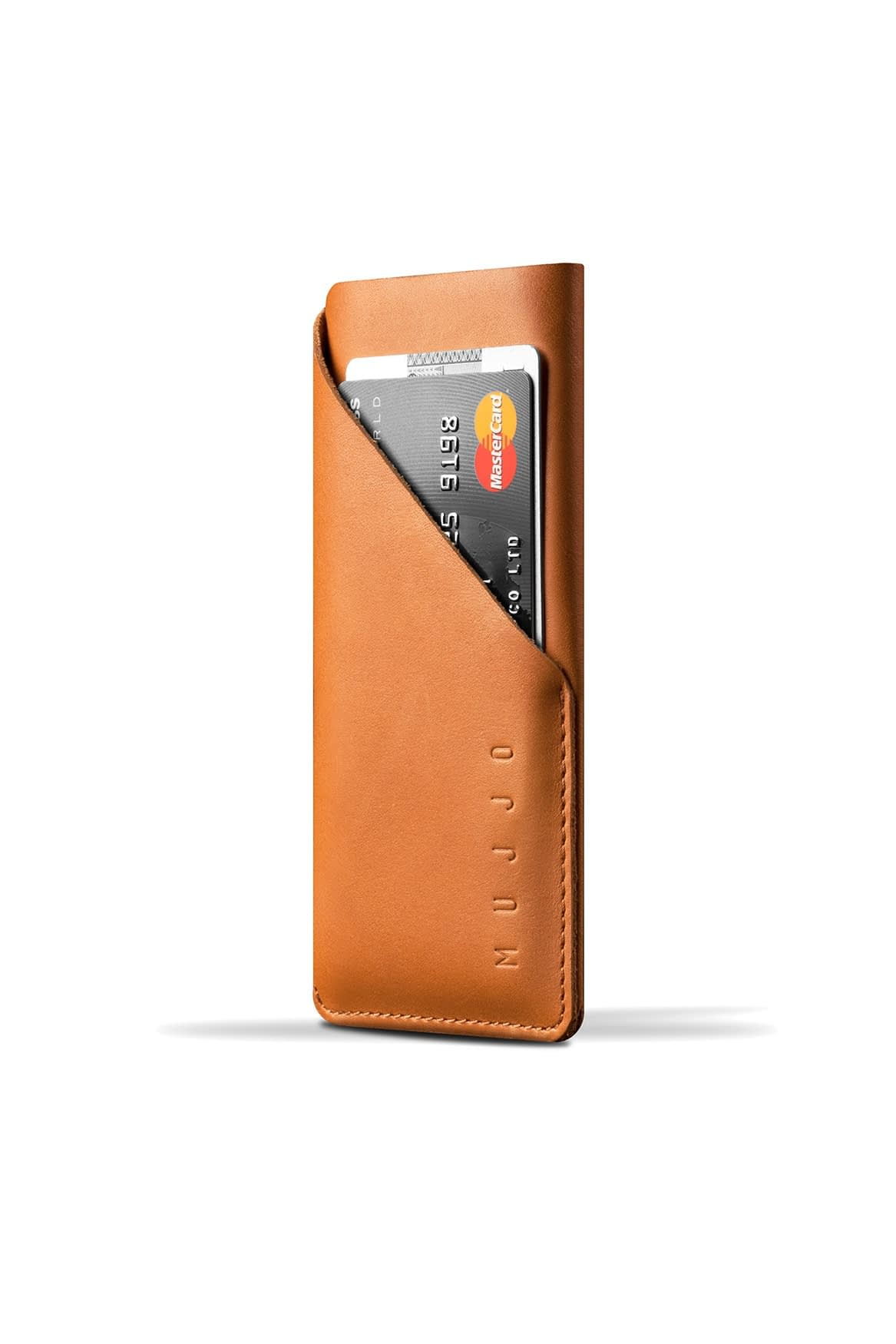 Leather Wallet Sleeve for iPhone X Tan 001