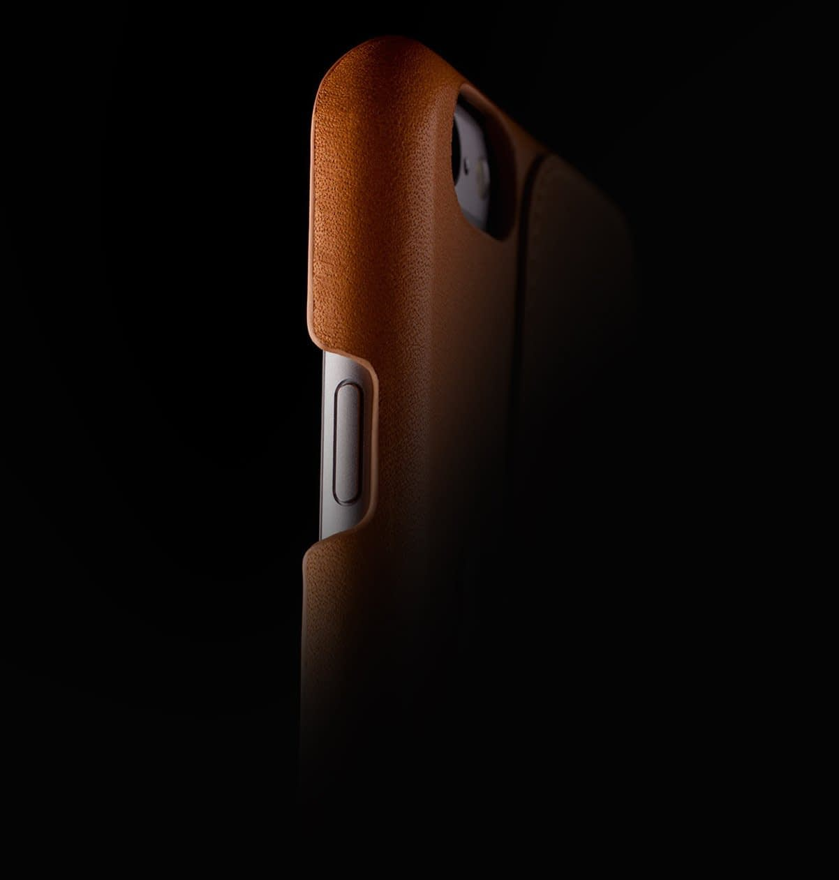 Leather Wallet Case 80° for iPhone 6 Plus Tan