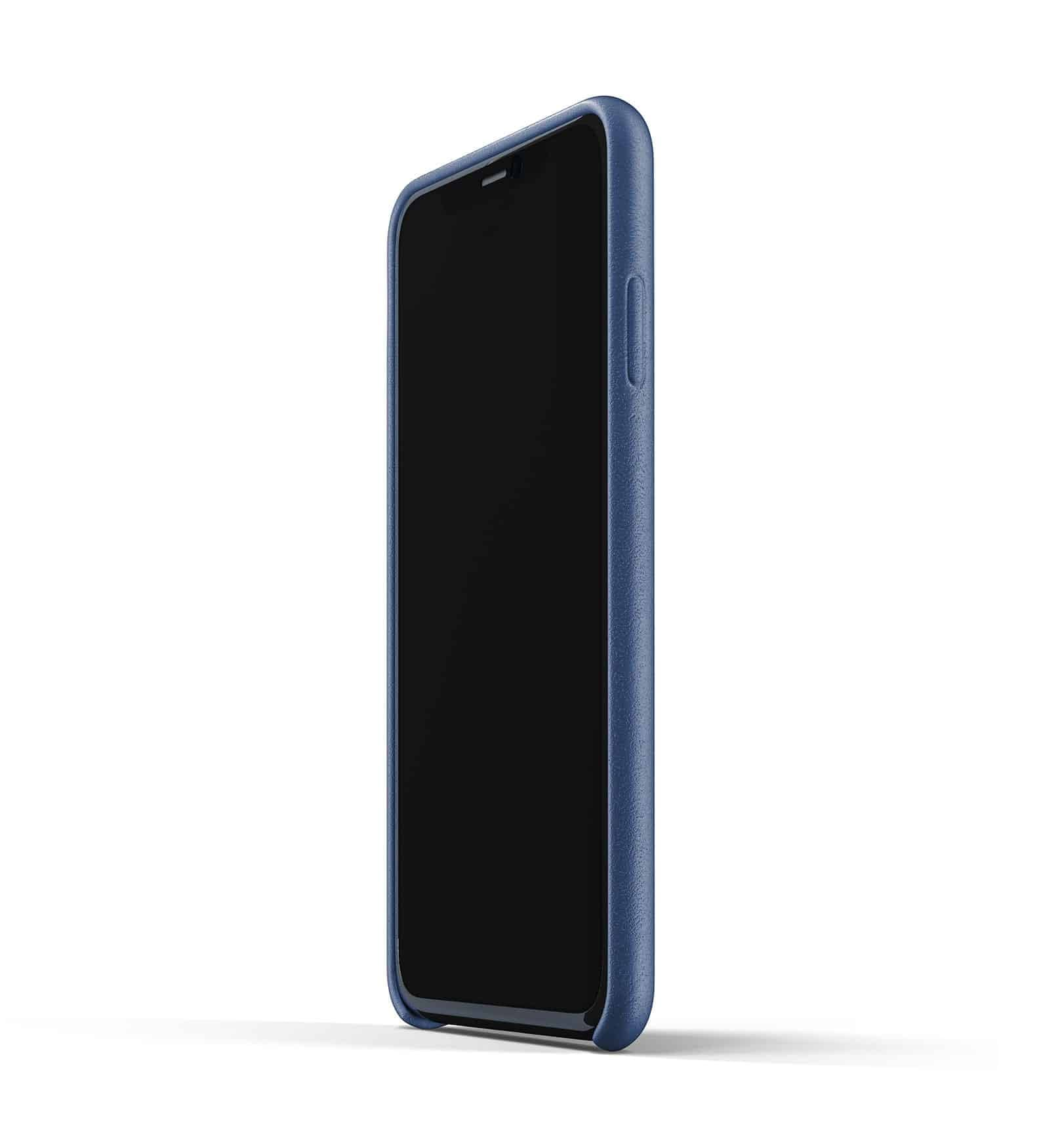 Full leather case for iPhone 11 Pro Max Blue Thumbnail 04