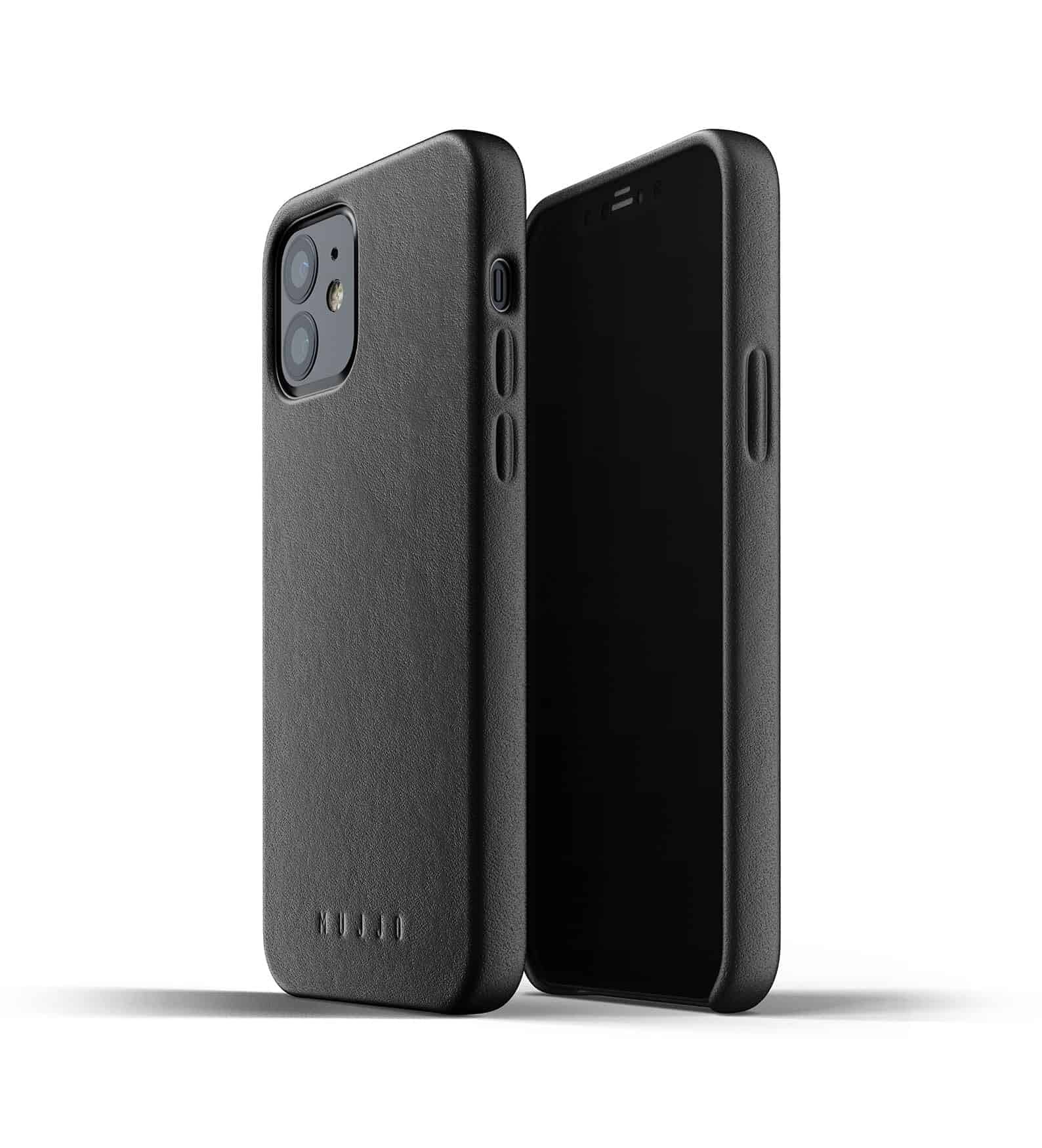 Full Leather Case for iPhone 12 Black Thumbnail 03