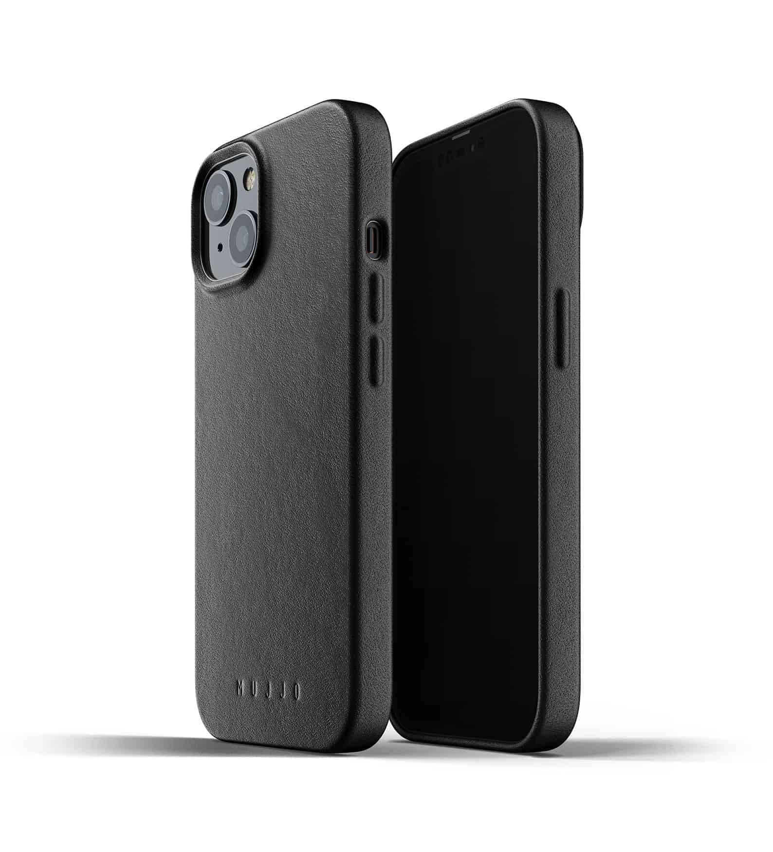 Full Leather Case for iPhone 13 Black Thumbnail 01