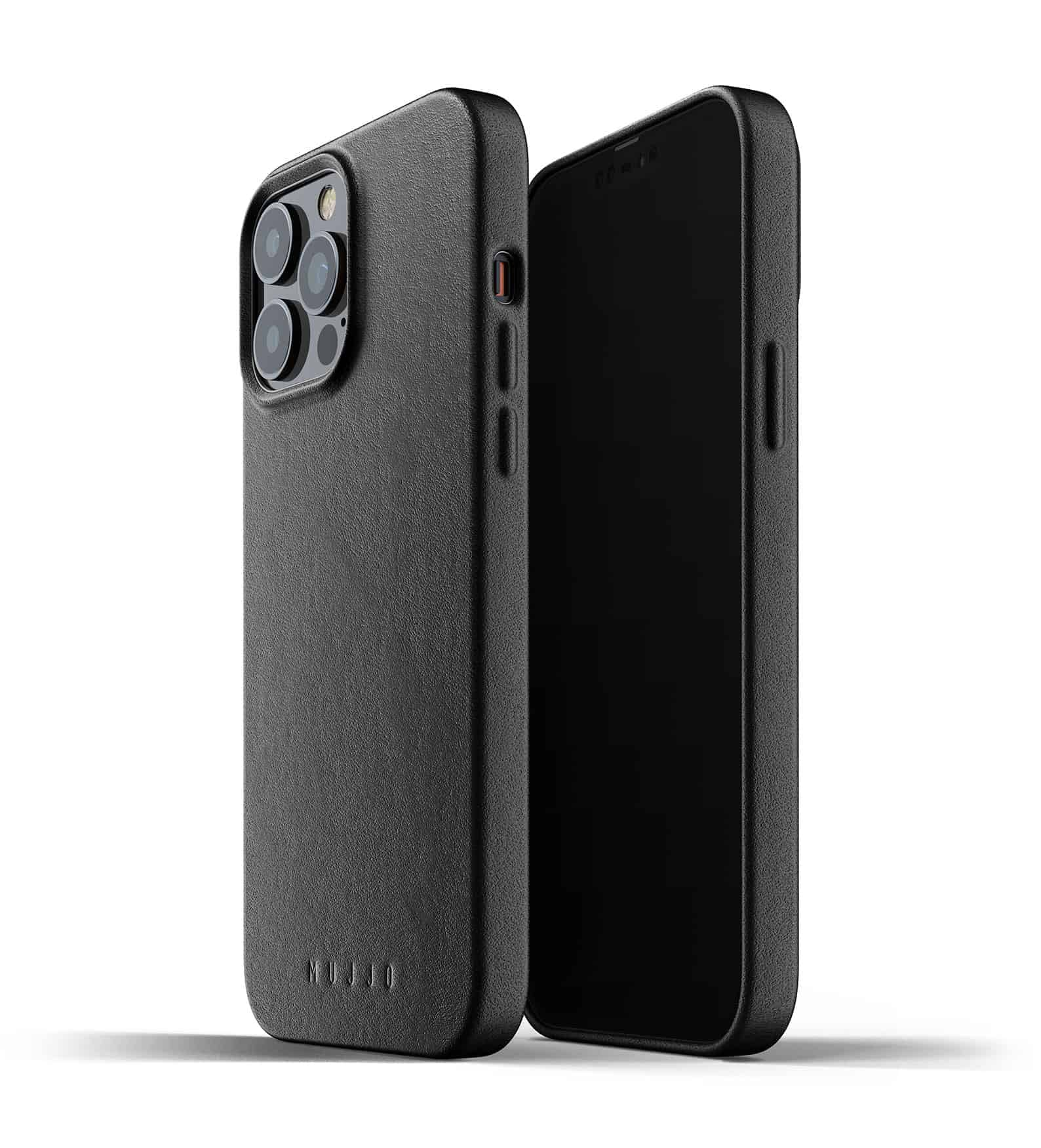Full Leather Case for iPhone 13 Pro Max Black Thumbnail 01
