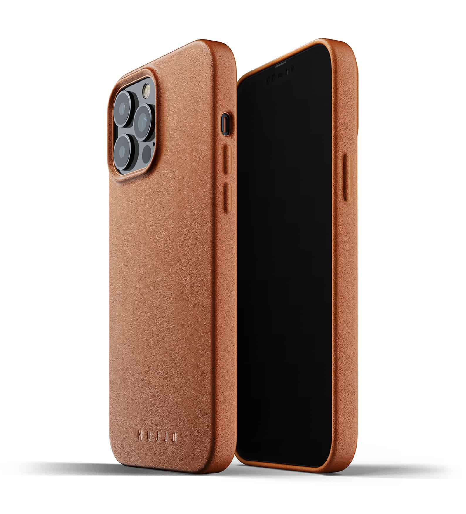 Full Leather Case for iPhone 13 Pro Max Tan Thumbnail 01