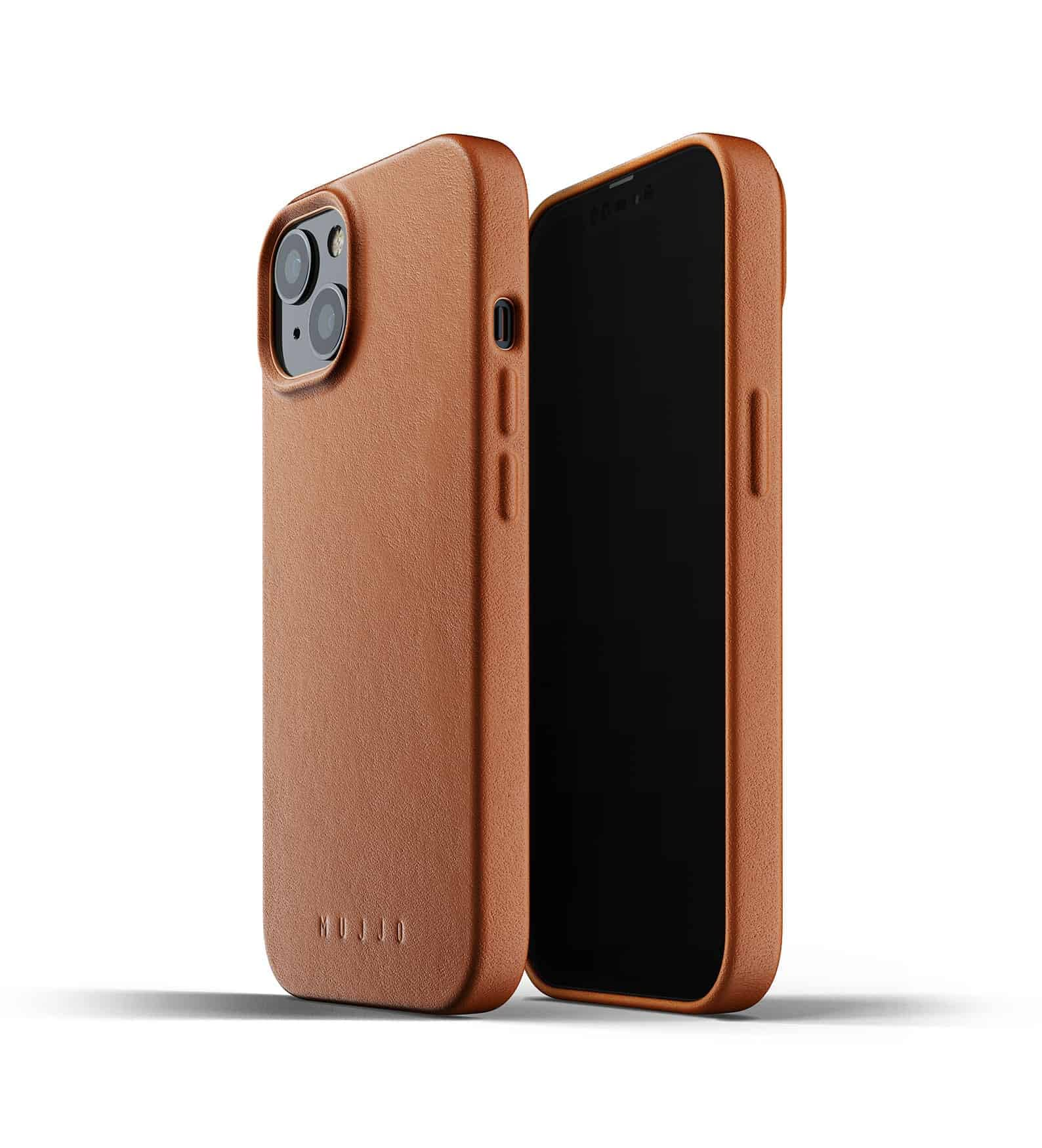 Full Leather Case for iPhone 13 Tan Thumbnail 01