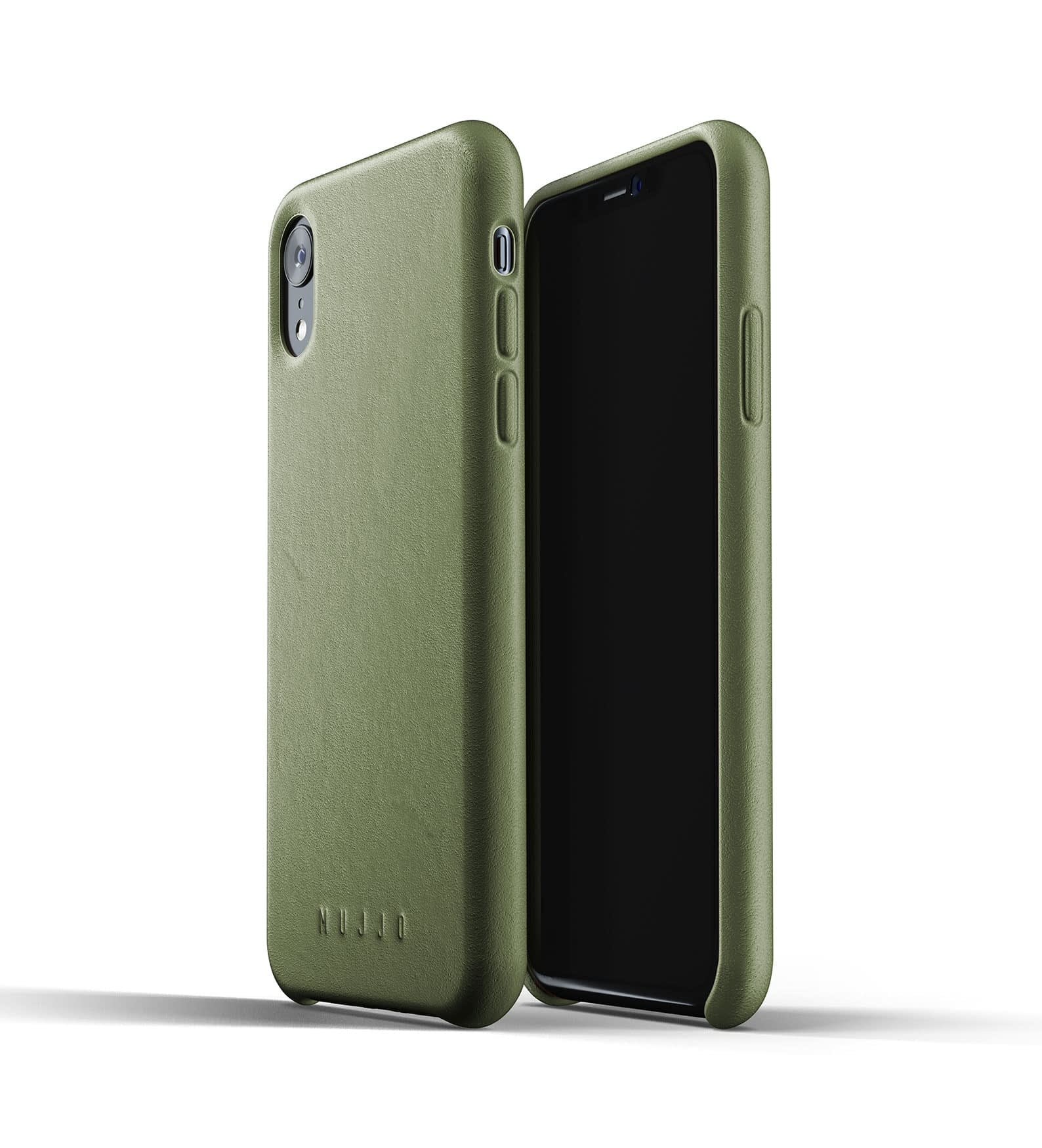 Full Leather Case for iPhone Xr Olive Thumbnail 03