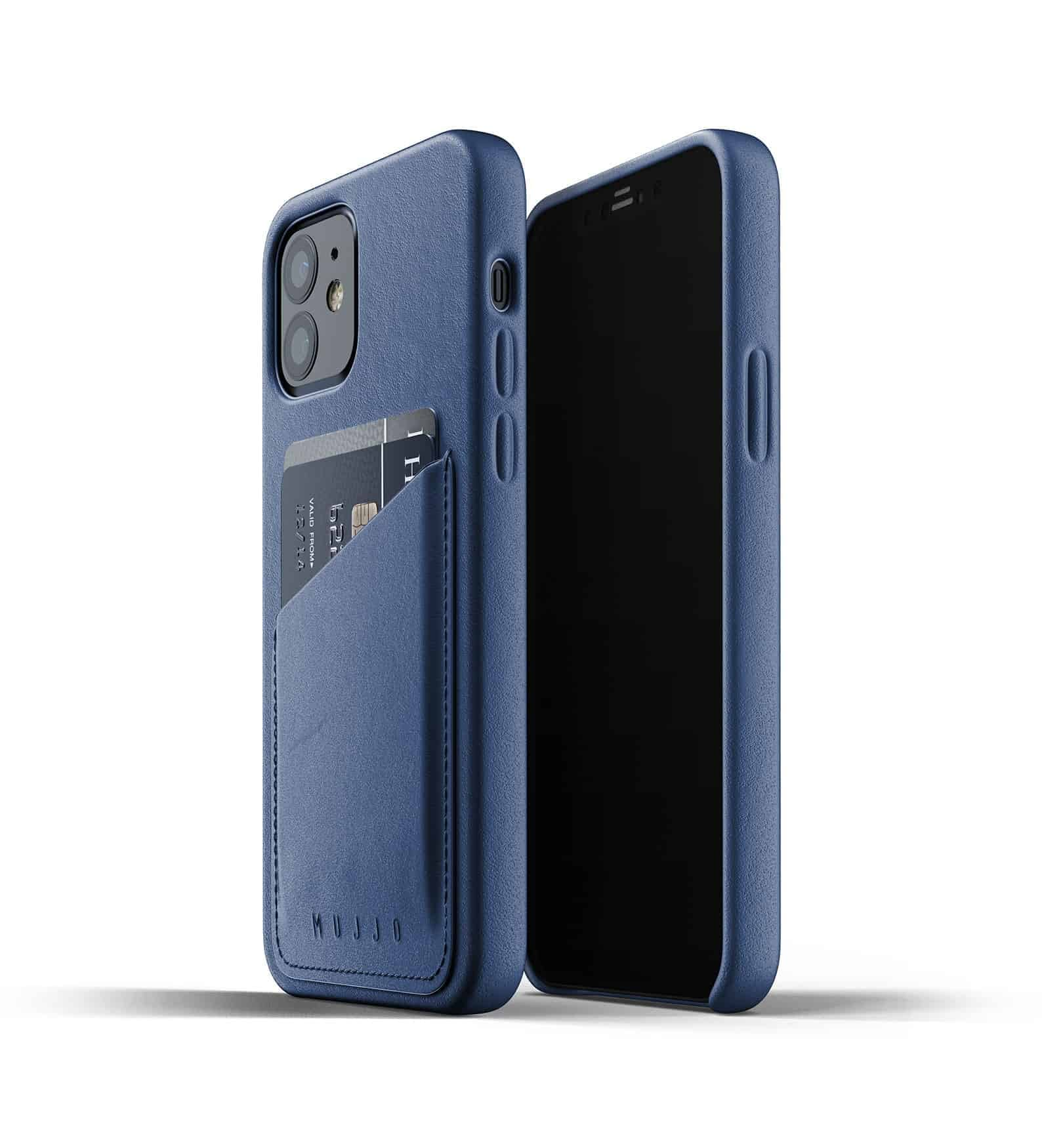 Full Leather Wallet Case for iPhone 12 Monaco Blue Thumbnail 03