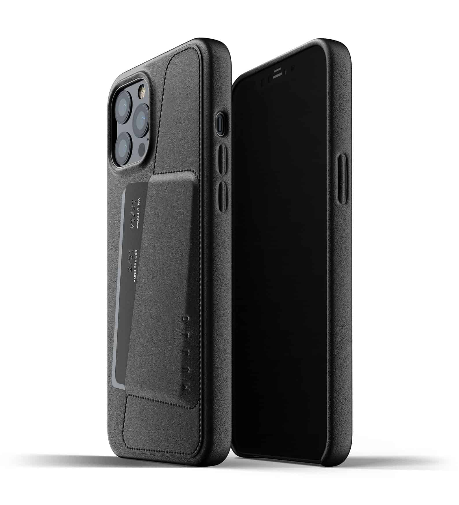Full Leather Wallet Case for iPhone 12 Pro Max Black Thumbnail 01