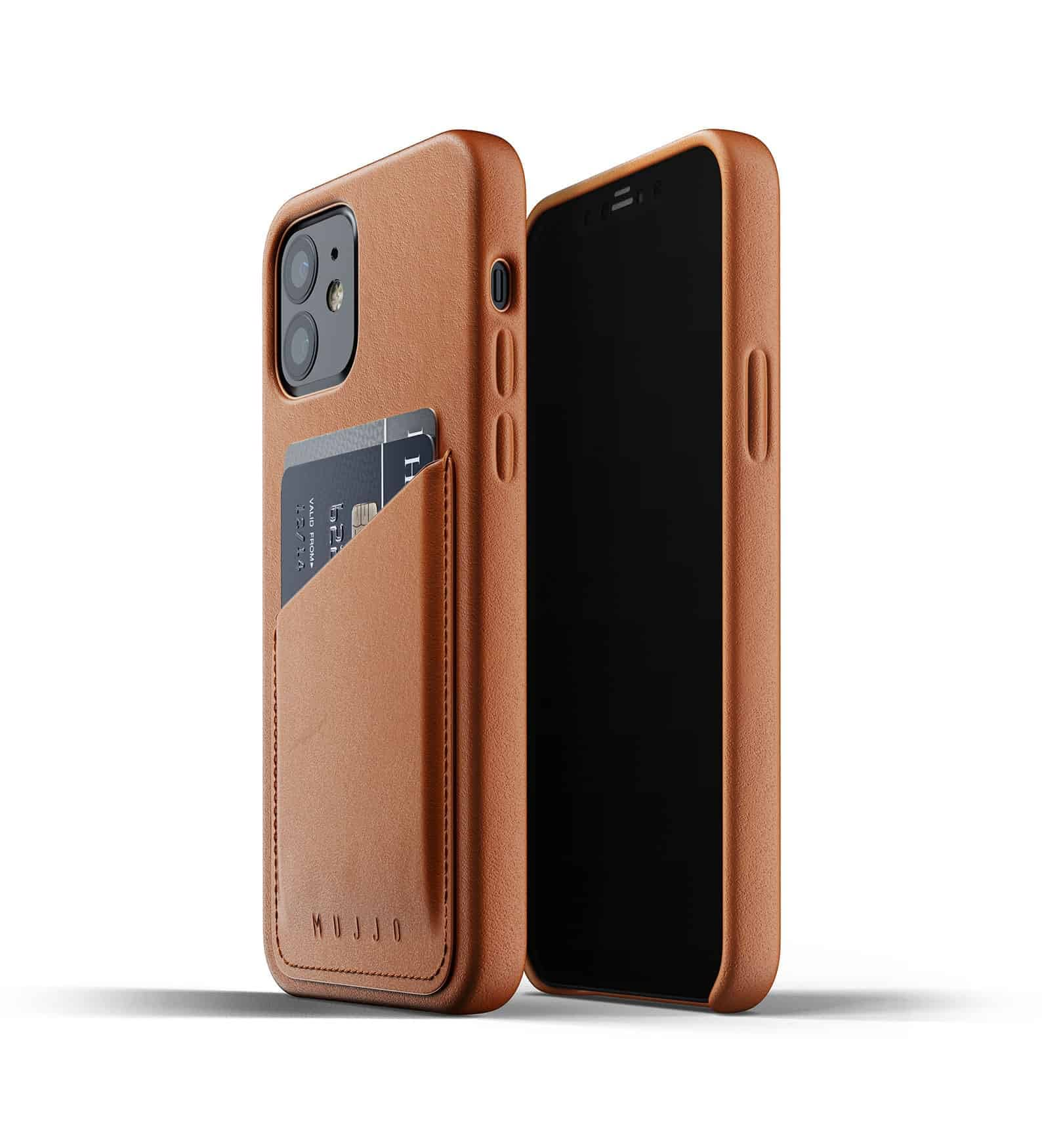 Full Leather Wallet Case for iPhone 12 Tan Thumbnail 03