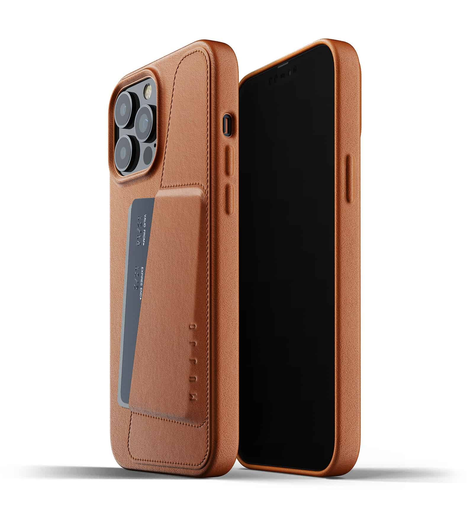 Full Leather Wallet Case for iPhone 13 Pro Max Tan Thumbnail 01