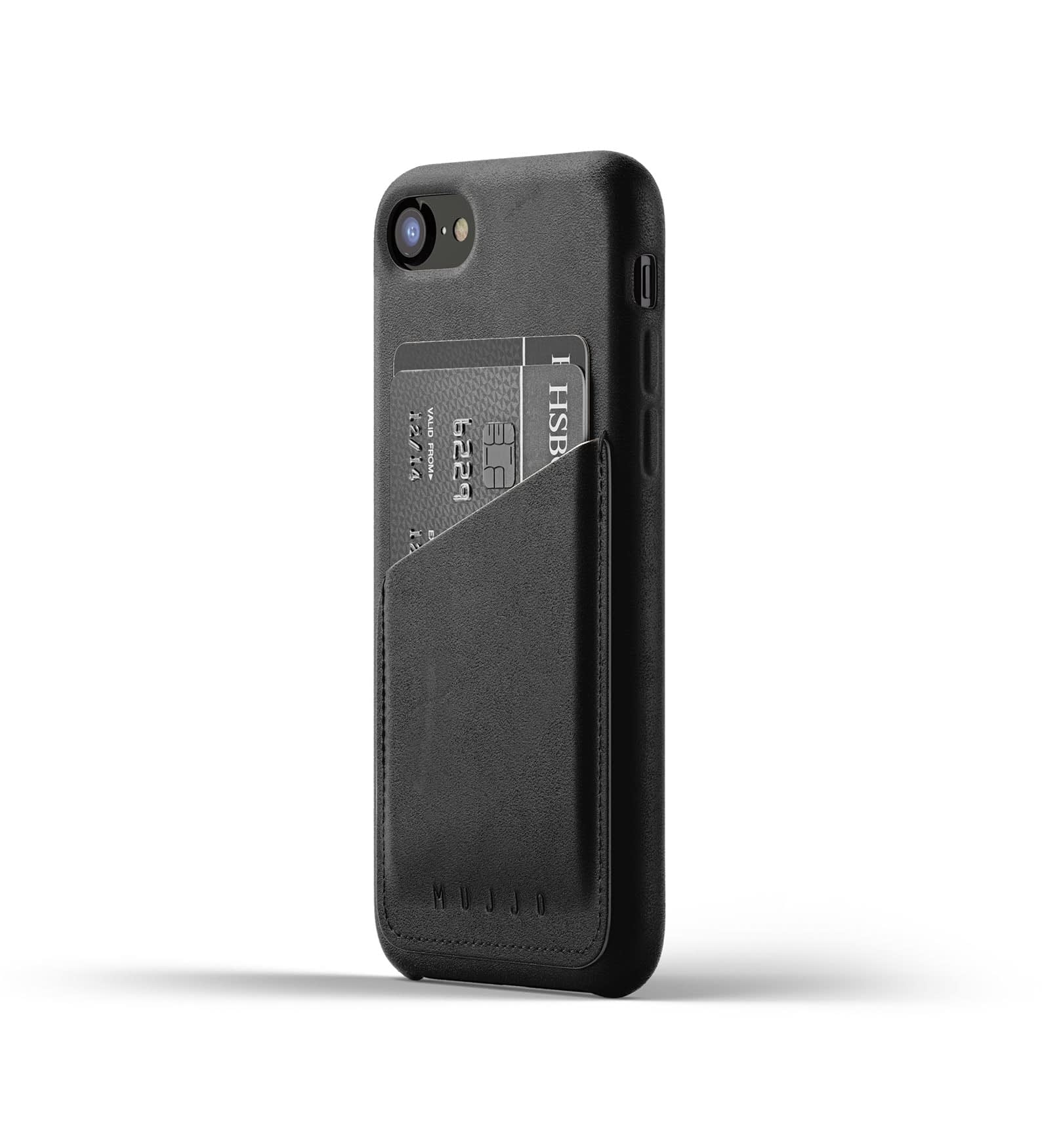 Full Leather Wallet Case for iPhone 8 7 Black Thumbnail 1