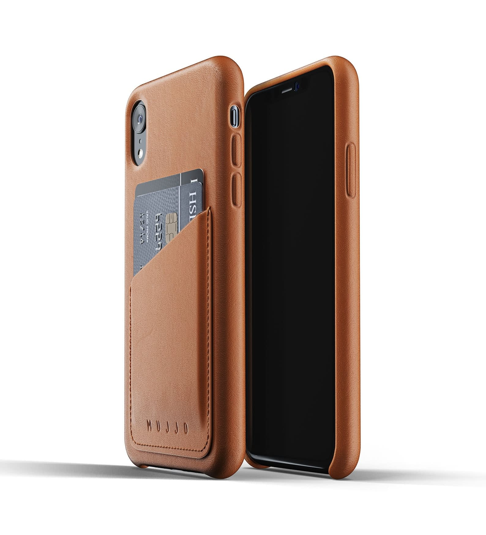Full Leather Wallet Case for iPhone Xr Tan Thumbnail 03
