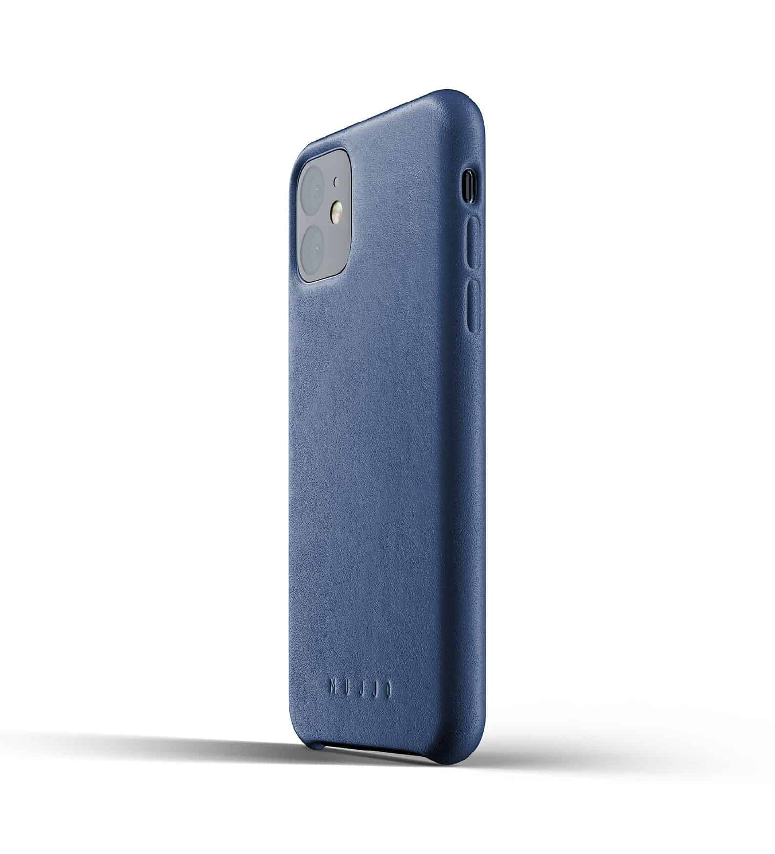Full leather case for iPhone 11 Blue Thumbnail 03