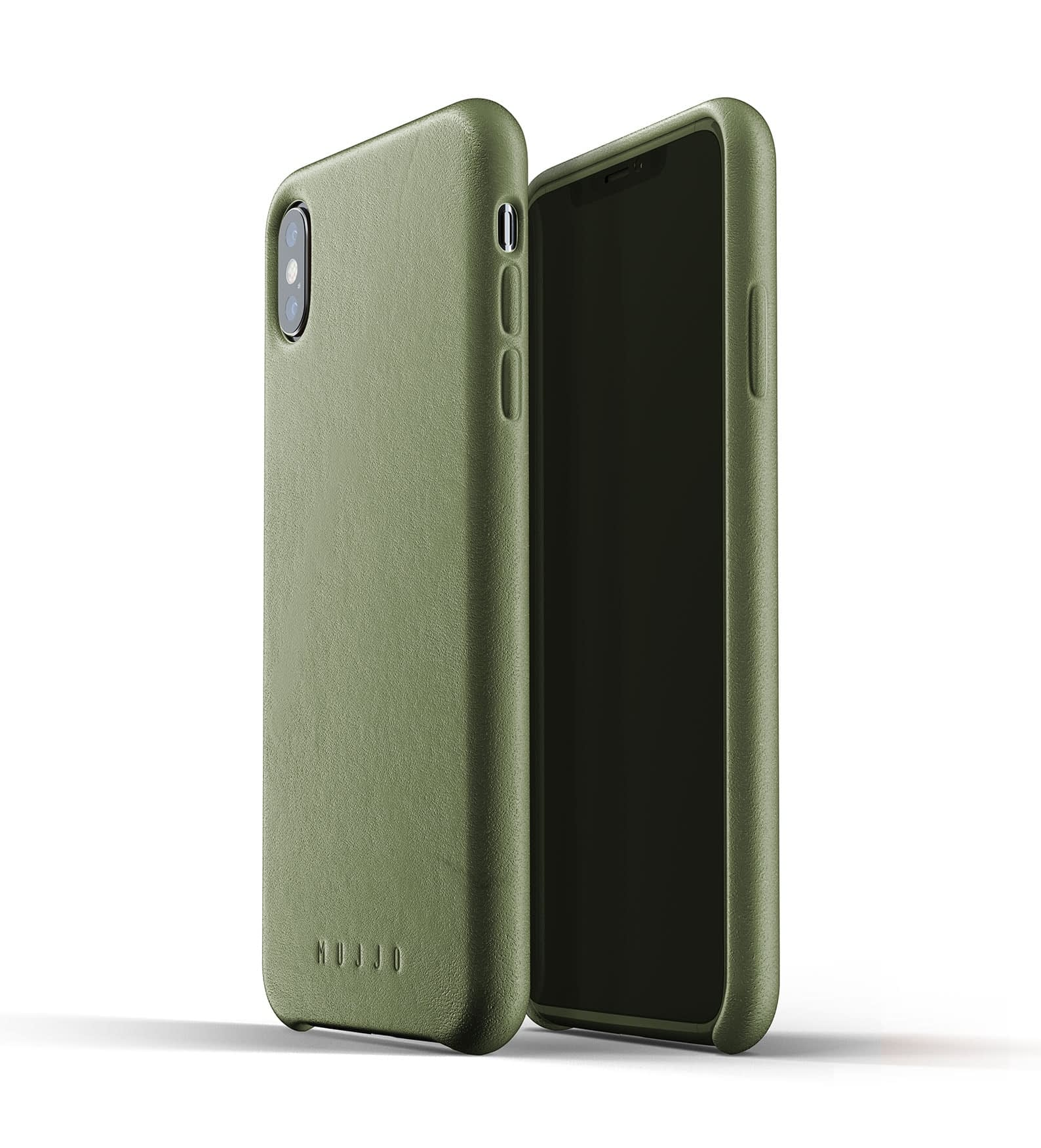 Full leather case for iPhone Xs Max Olive Thumbnail 01