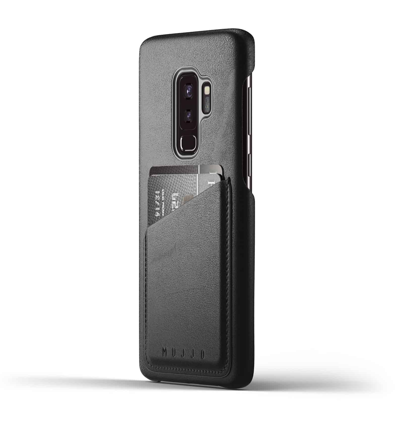 Full leather wallet case for Galaxy S9 Plus Black Thumbnail 01