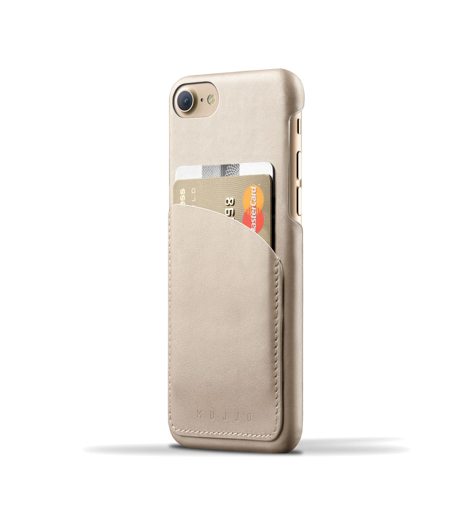 Leather Wallet Case for iPhone 8 / 7 - Champagne 1