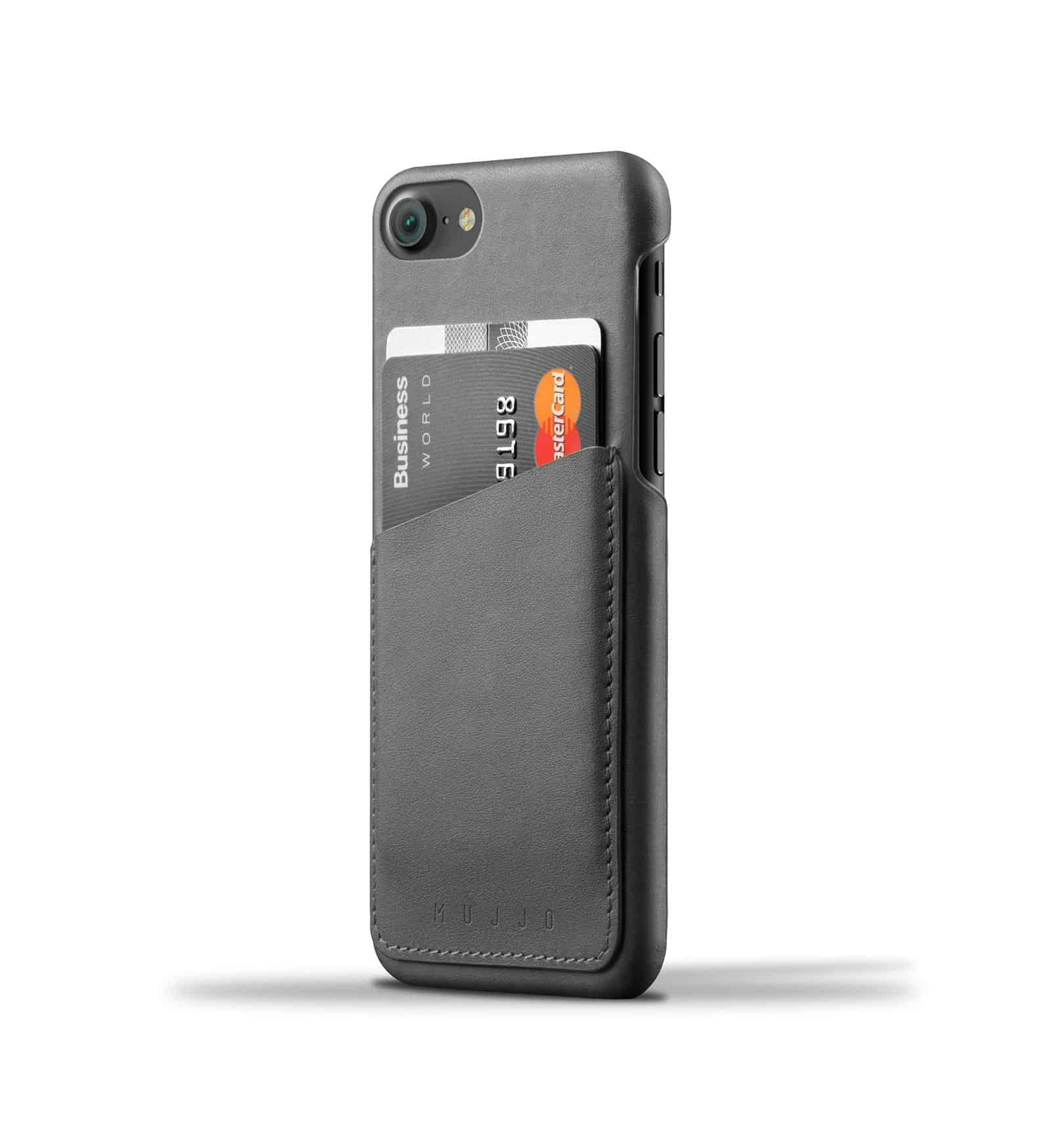 Leather Wallet Case for iPhone 8 / 7 - Gray 1