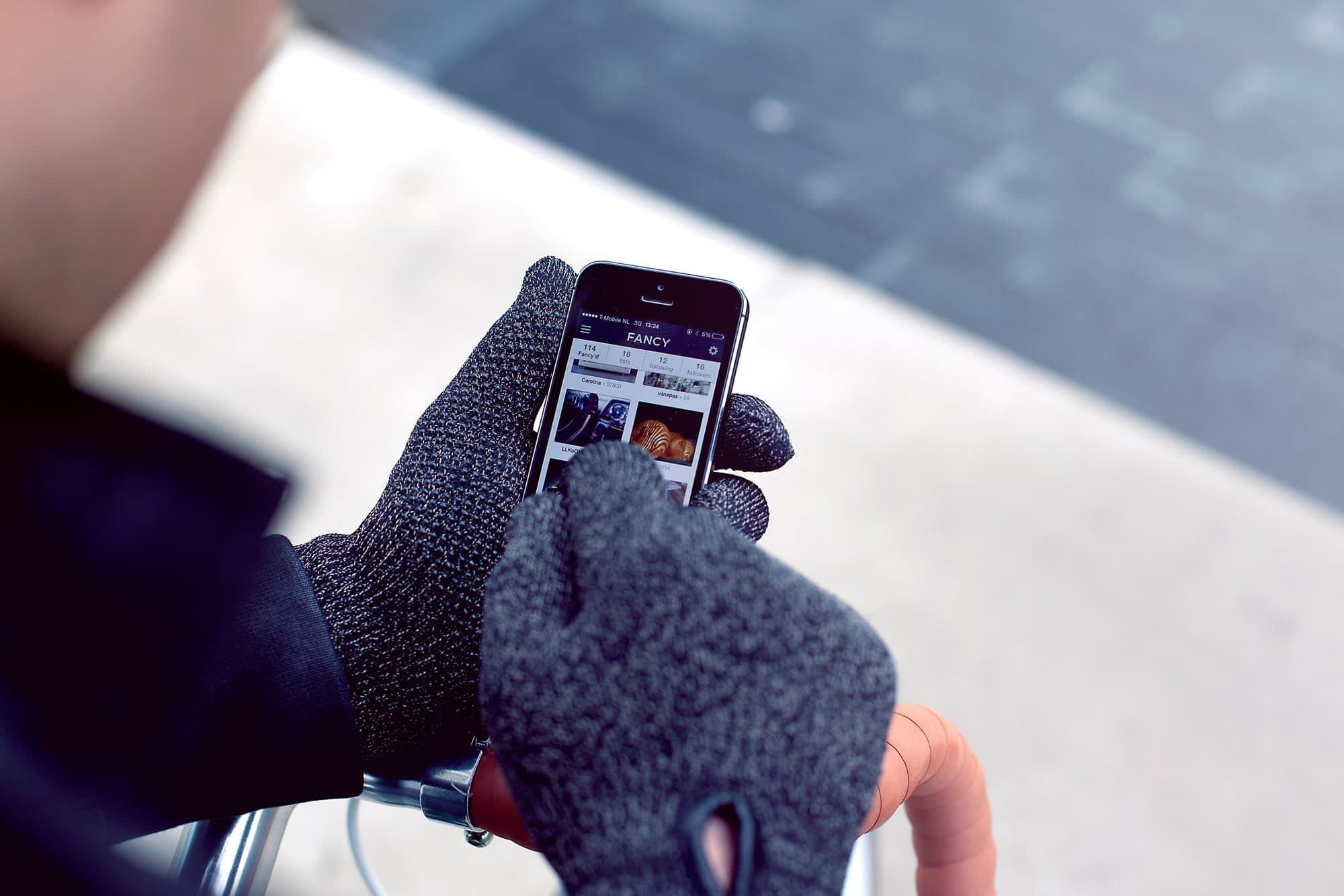 Double Layered Touchscreen Gloves Fixed Gear 005