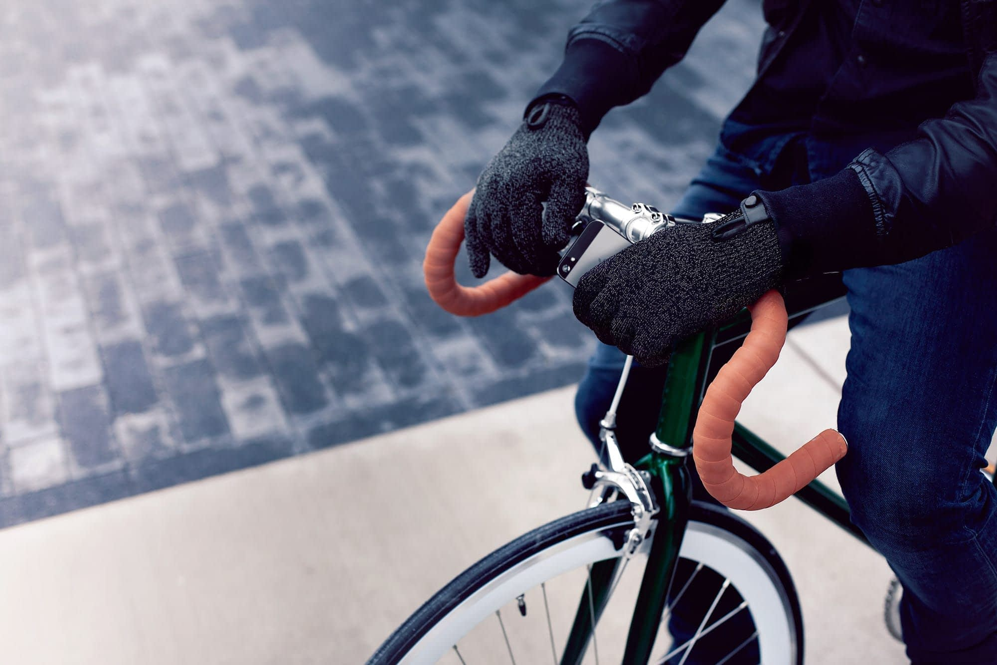 Double Layered Touchscreen Gloves Fixed Gear 007