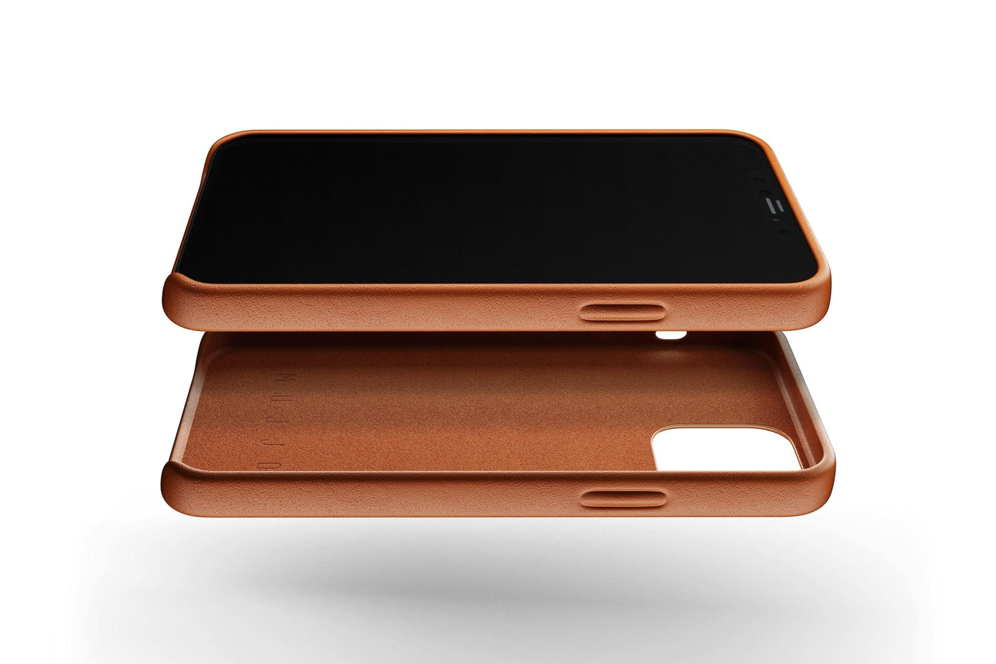 Full Leather Case for iPhone 12 12 Pro Tan 02