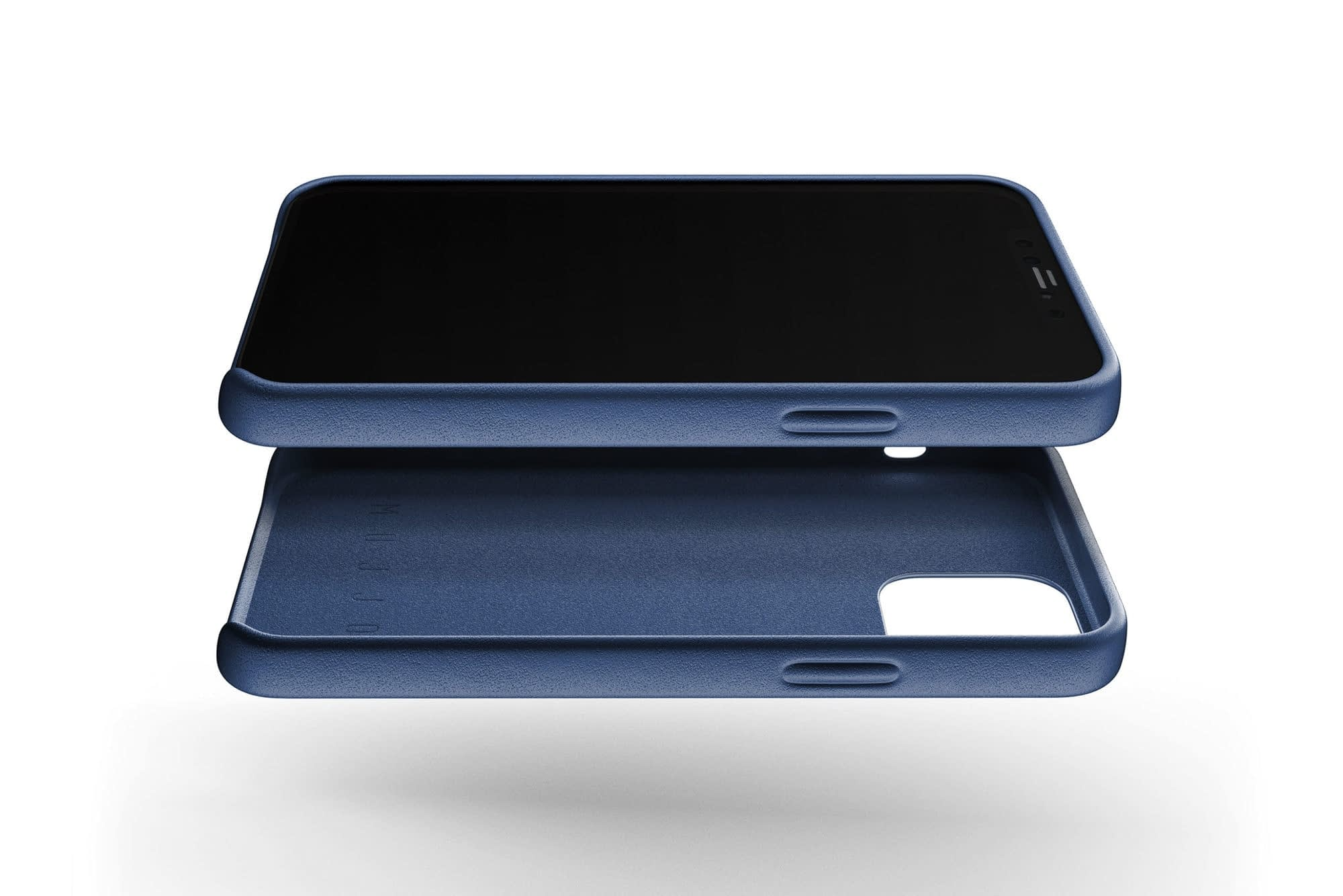 Full Leather Wallet Case for iPhone 12 12 Pro Monaco Blue 02