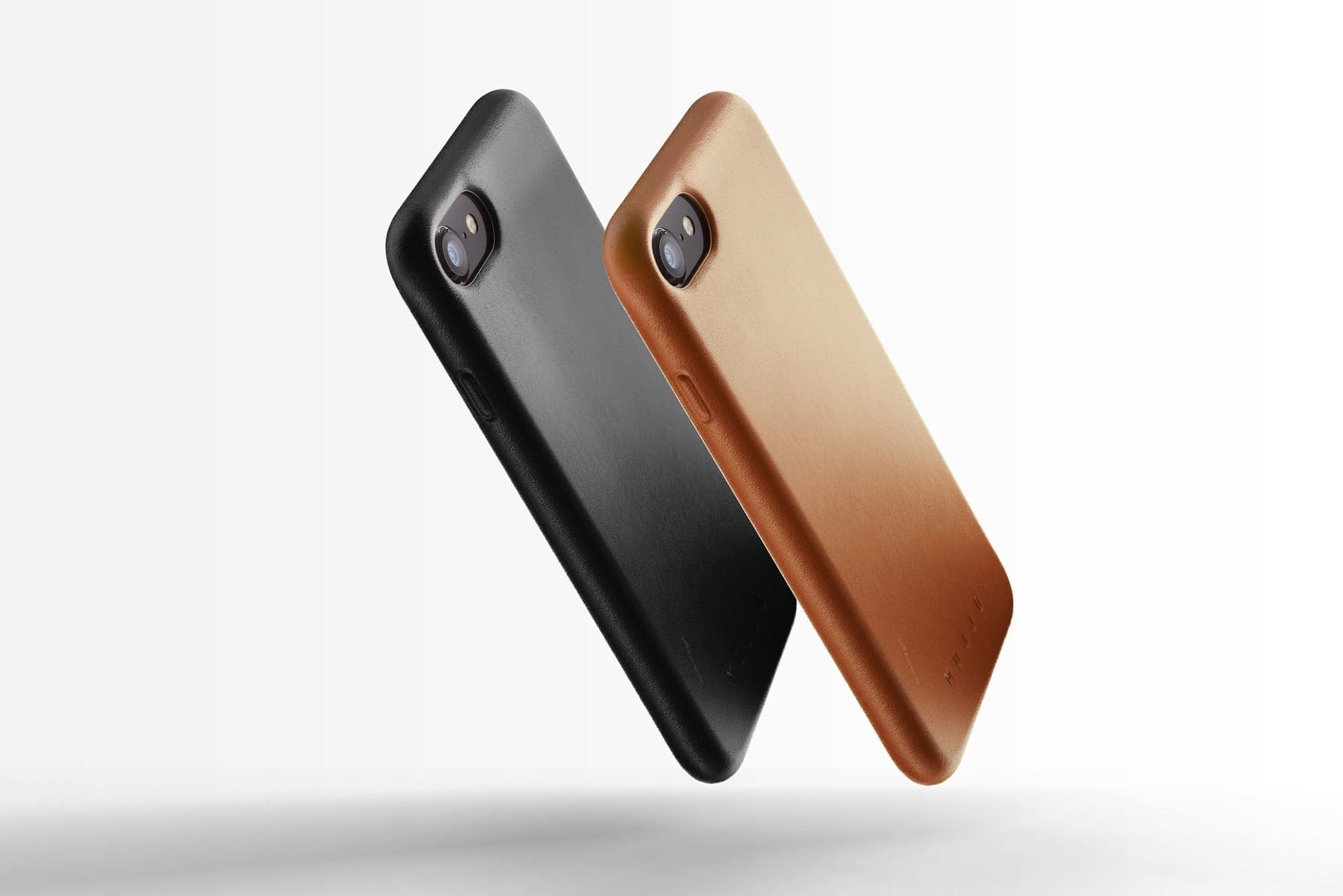 Full leather case for iPhone 8 Black Line up 01