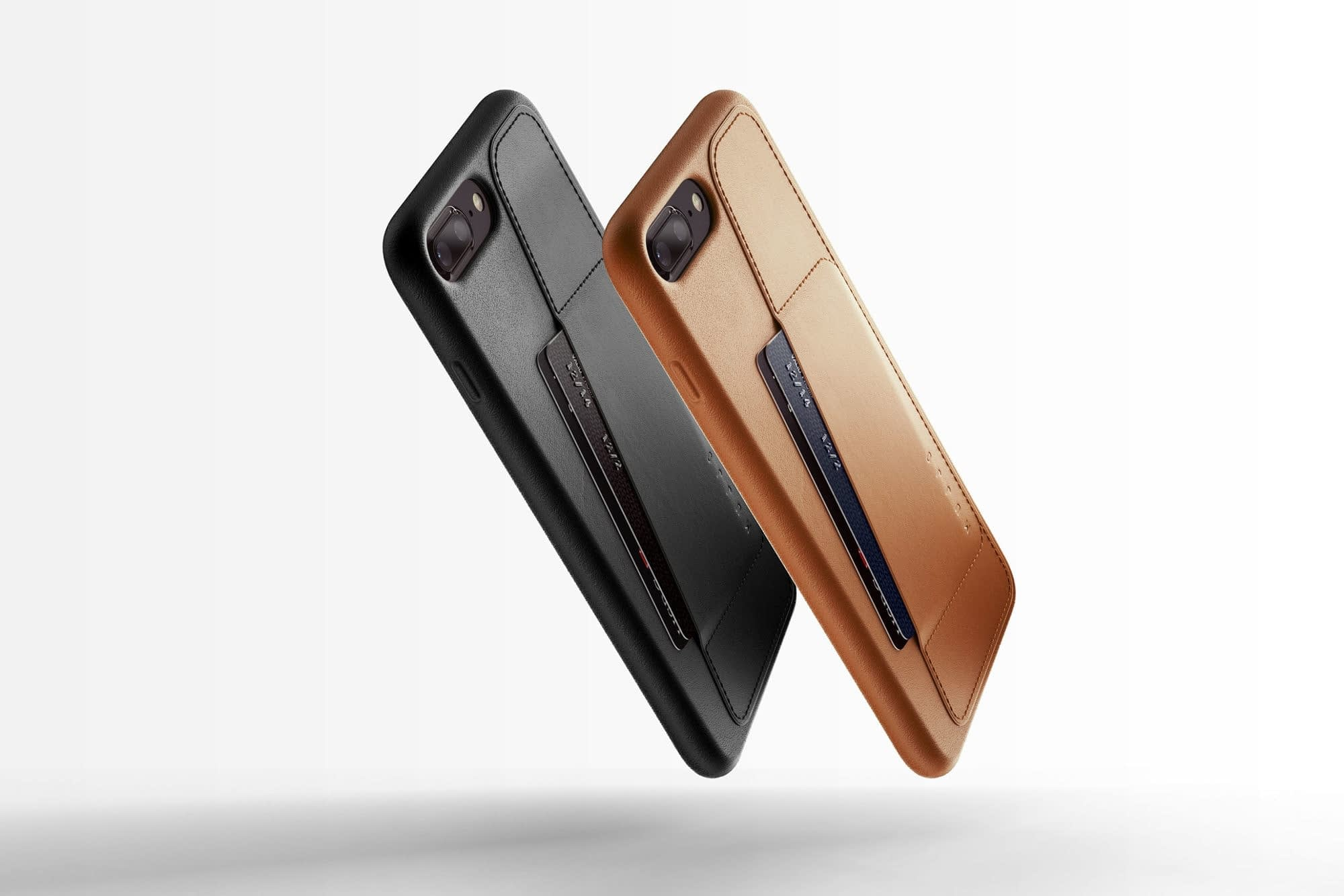 Full leather wallet case for iPhone 8 Plus Black Line up 01
