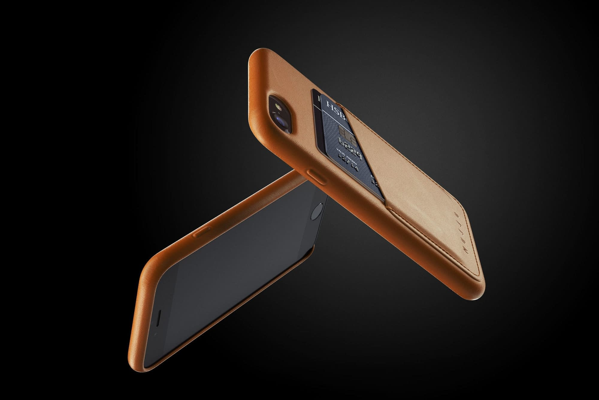 Full leather wallet case for iPhone 8 Tan 03