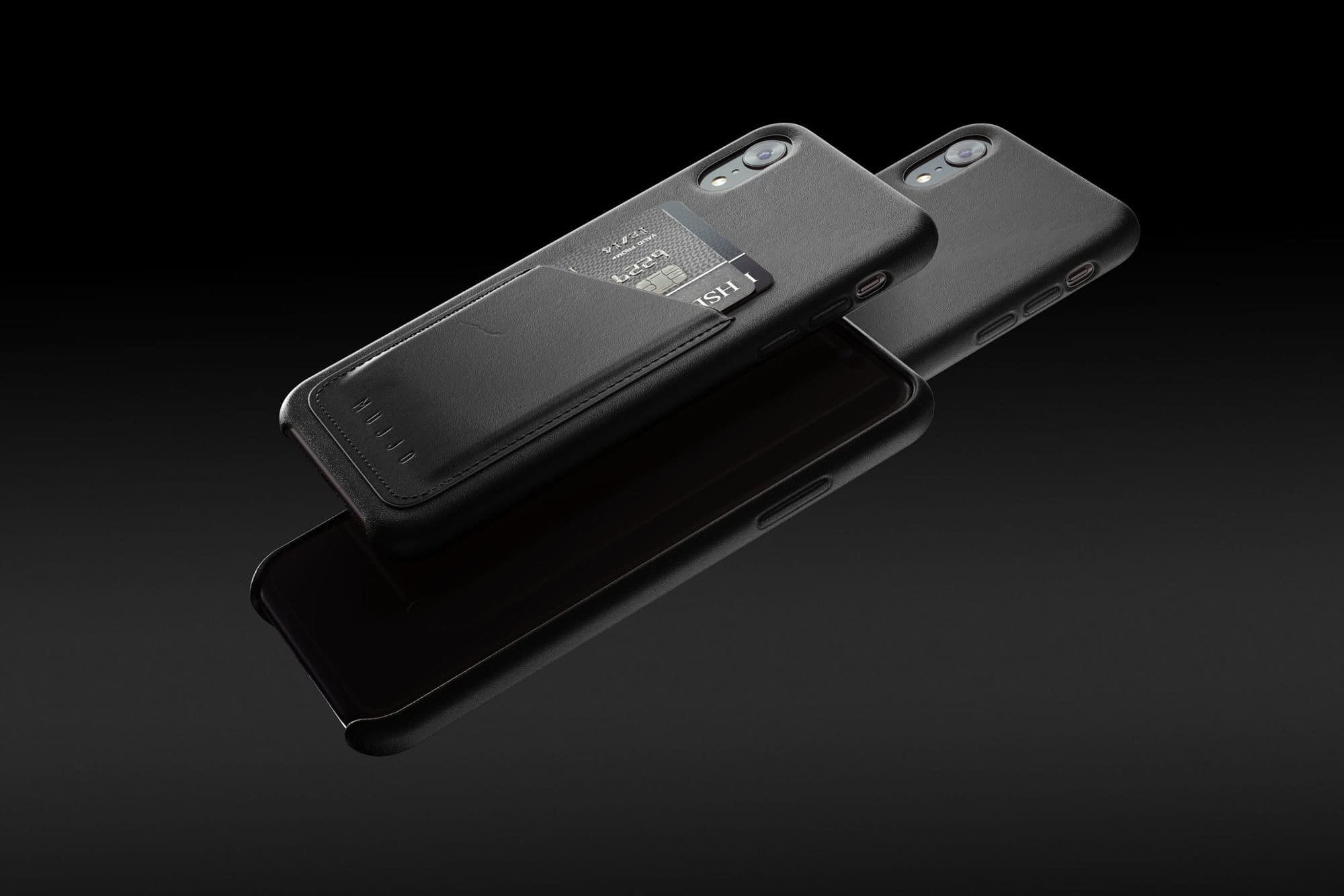 Full leather wallet case for iPhone Xr Black 01