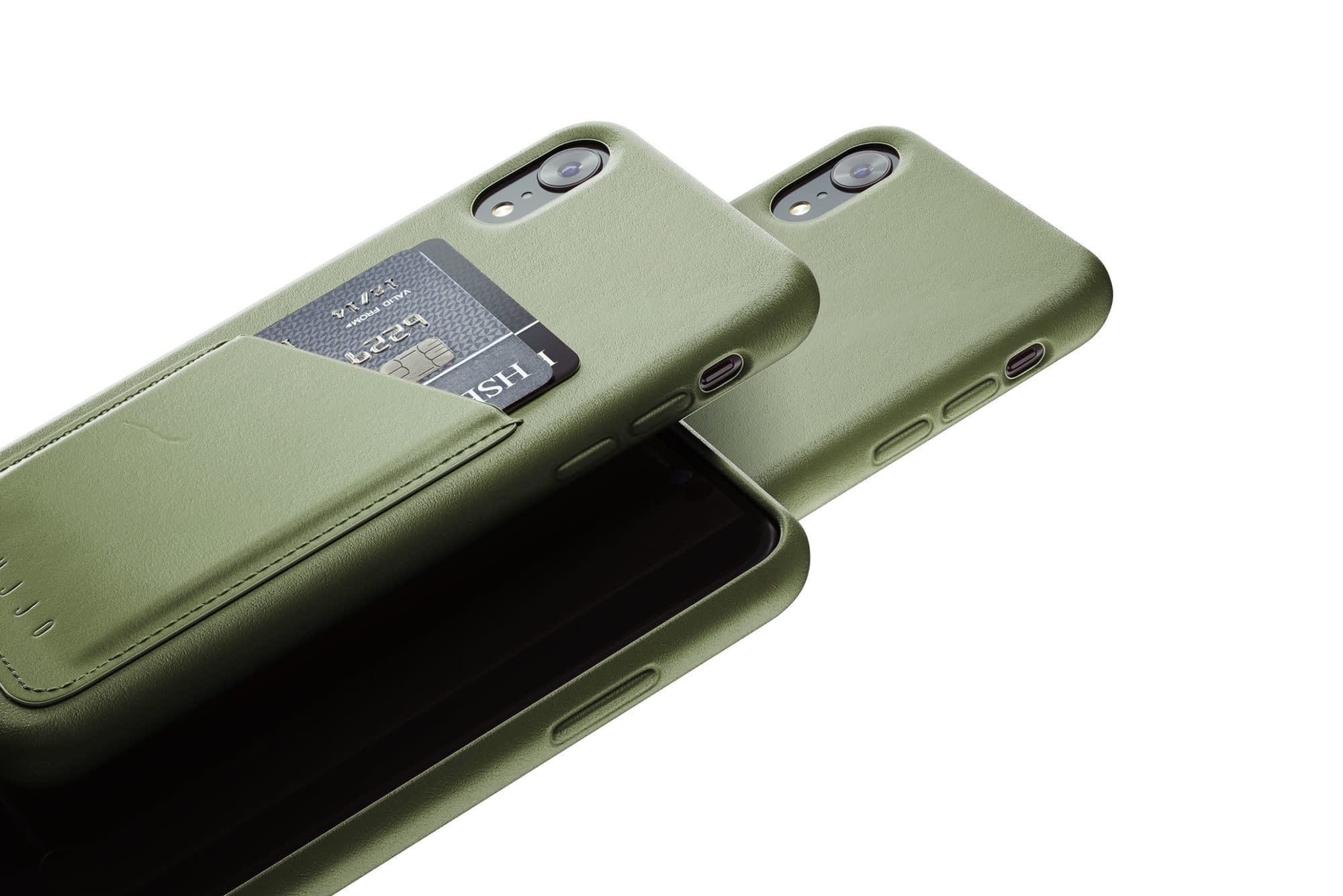 Full leather wallet case for iPhone Xr Olive 02