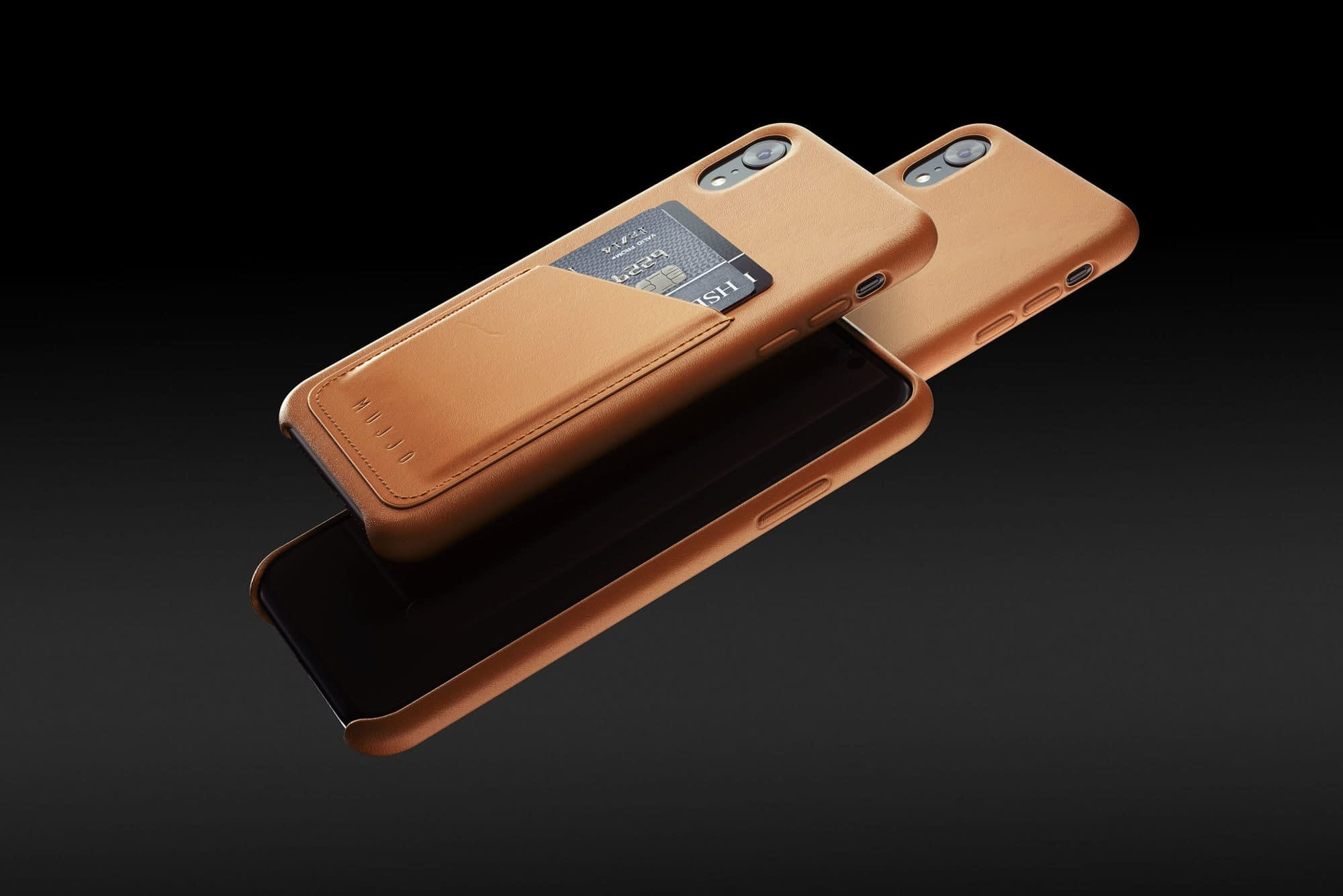 Full leather wallet case for iPhone Xr Tan 01