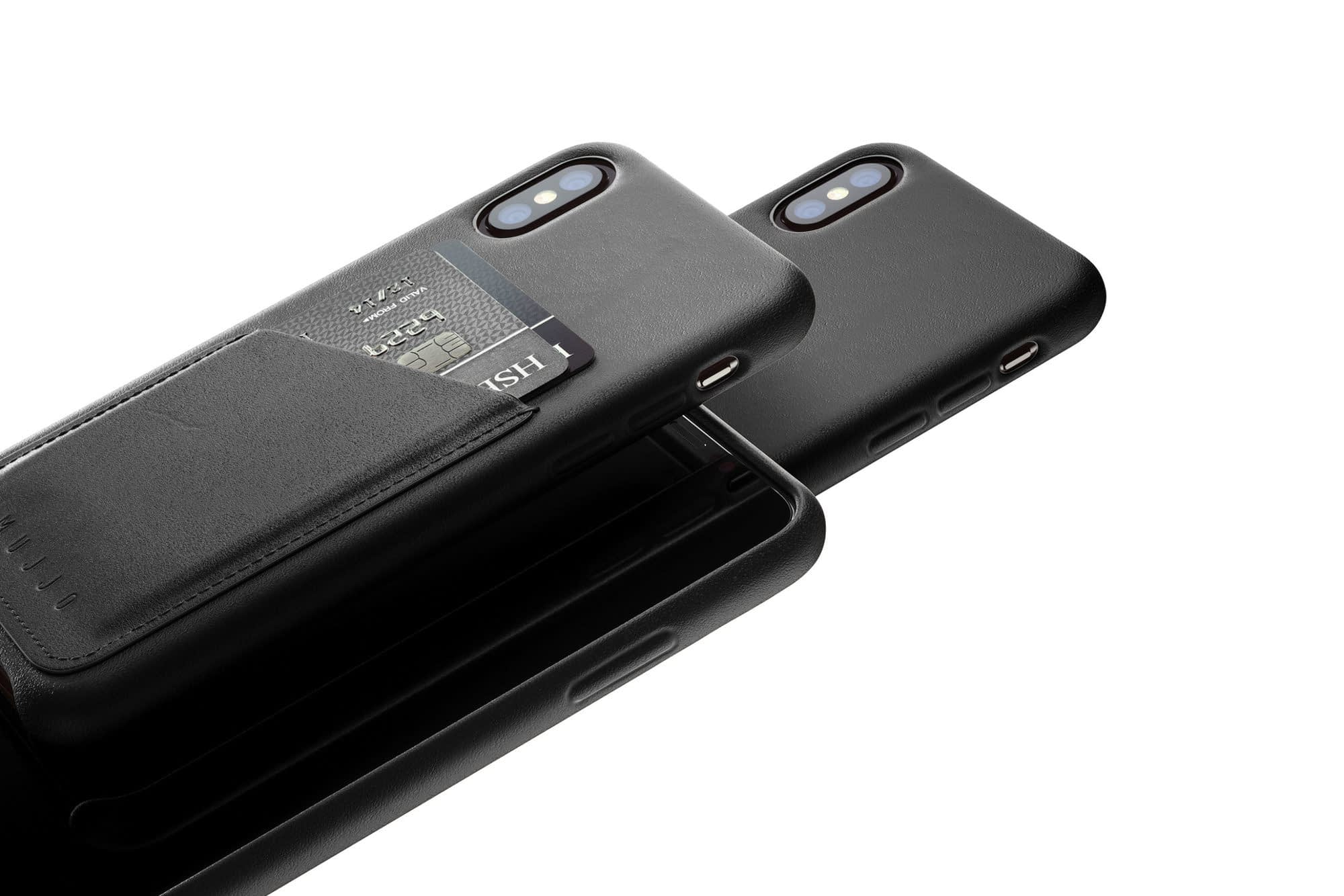 Full leather wallet case for iPhone Xs Black 02