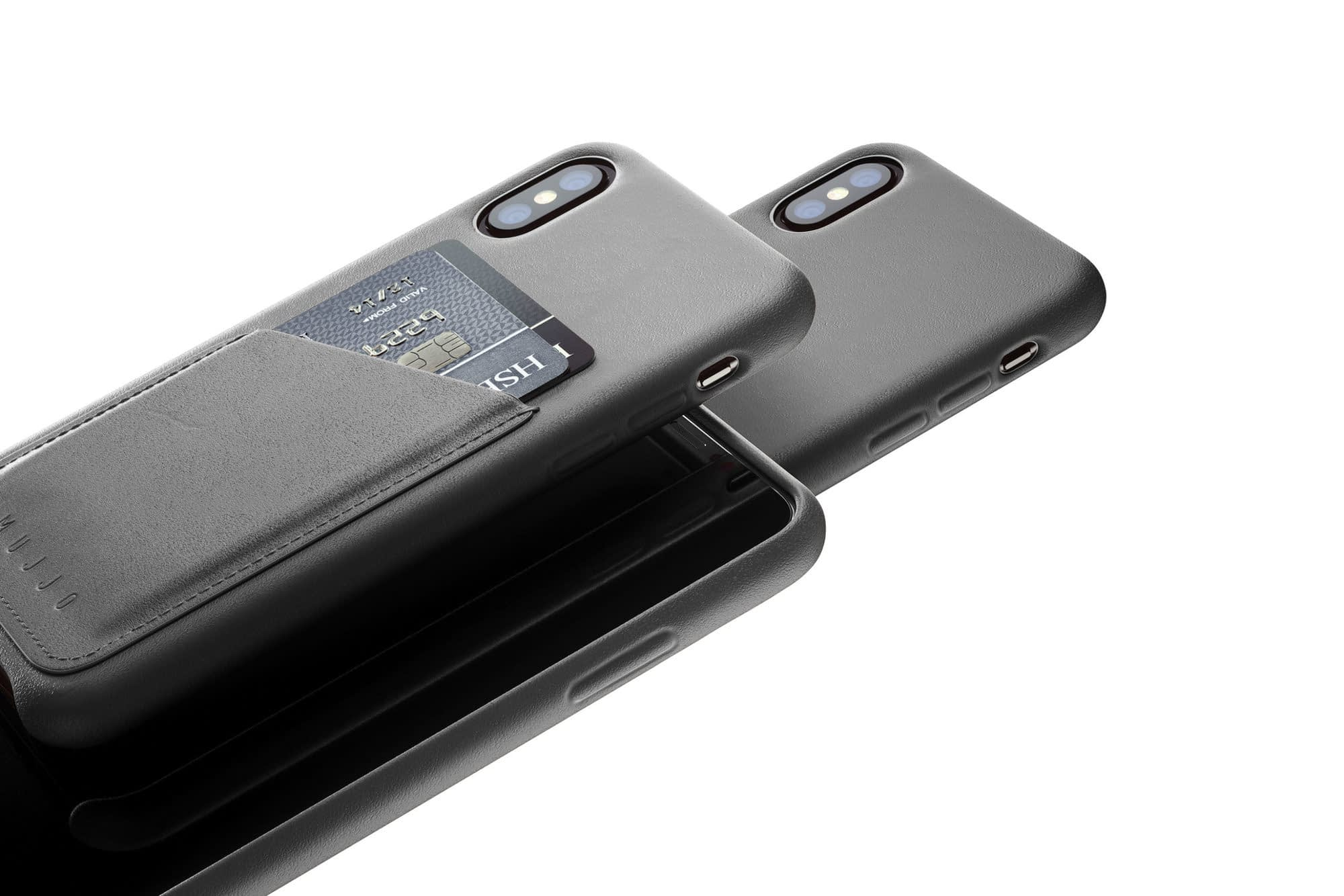 Full leather wallet case for iPhone Xs Gray 02