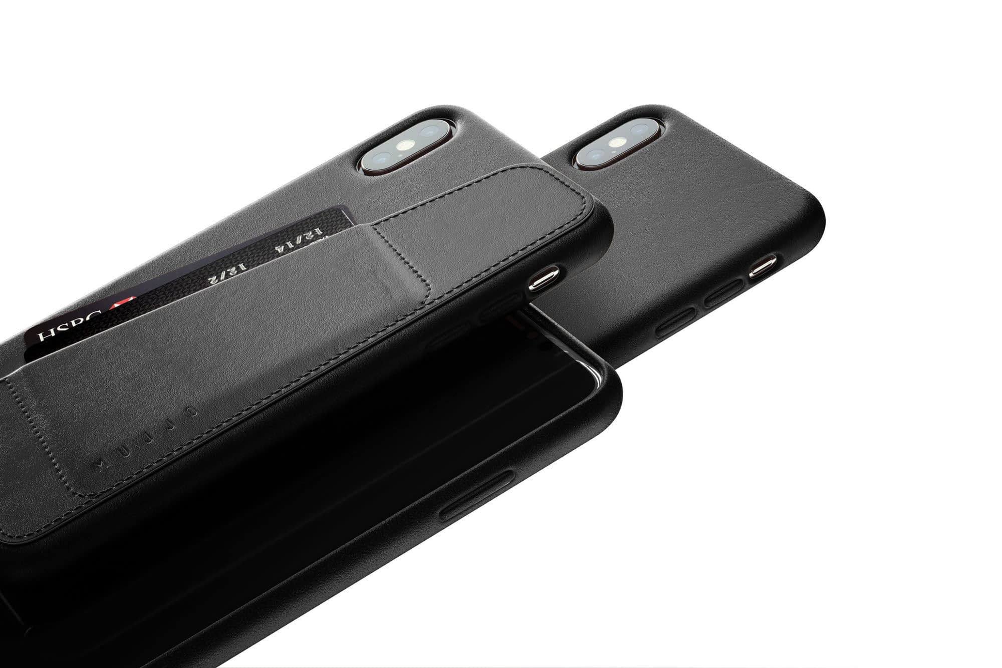 Full leather wallet case for iPhone Xs Max Black 02