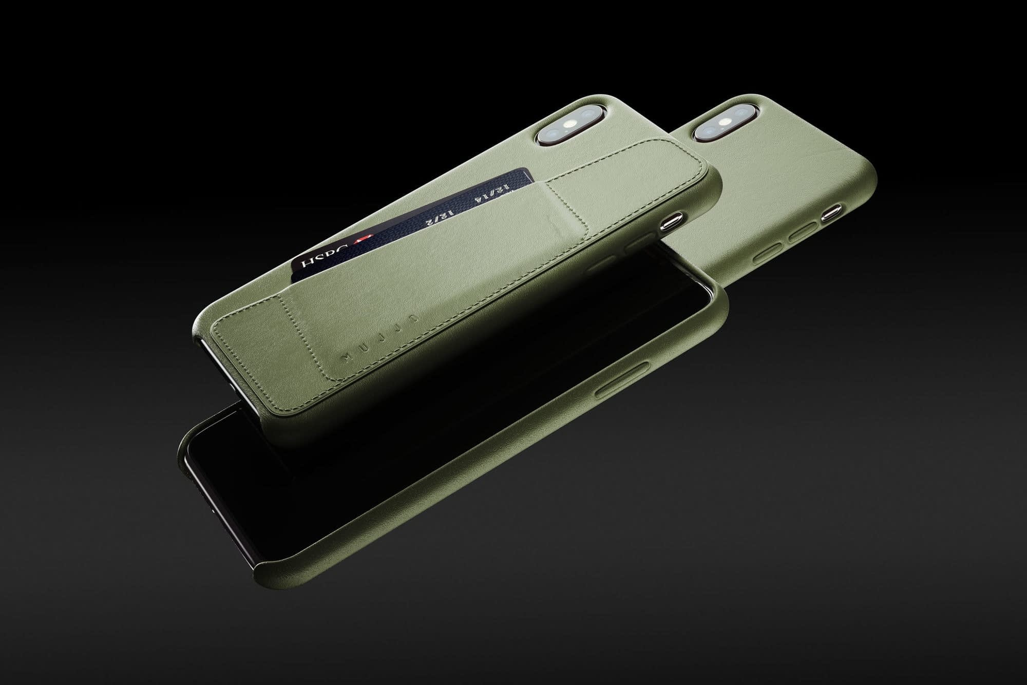 Full leather wallet case for iPhone Xs Max Olive 01 1