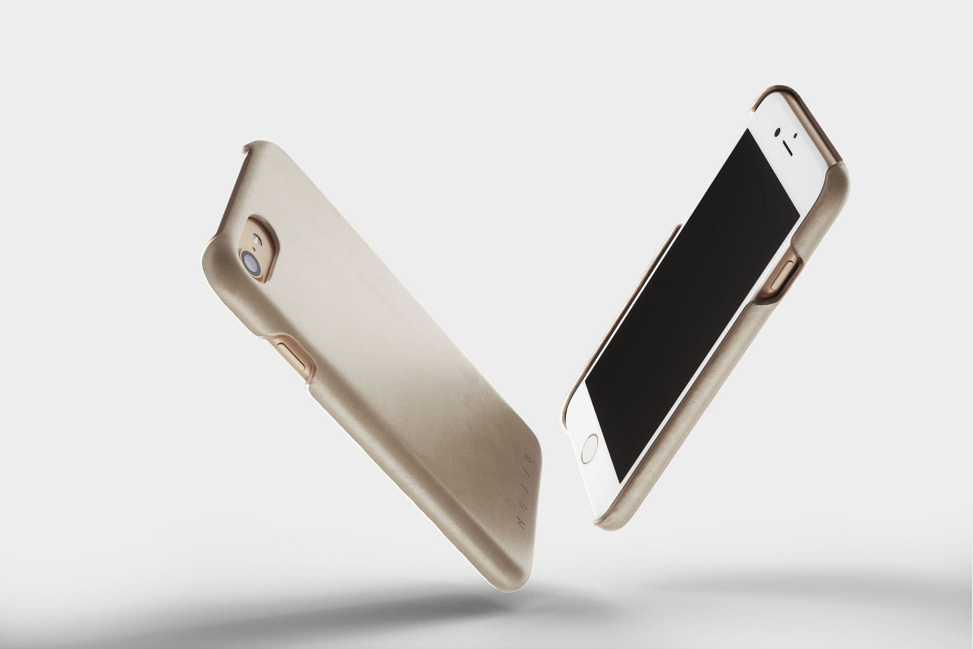 Leather Case for iPhone 8 Champagne 1
